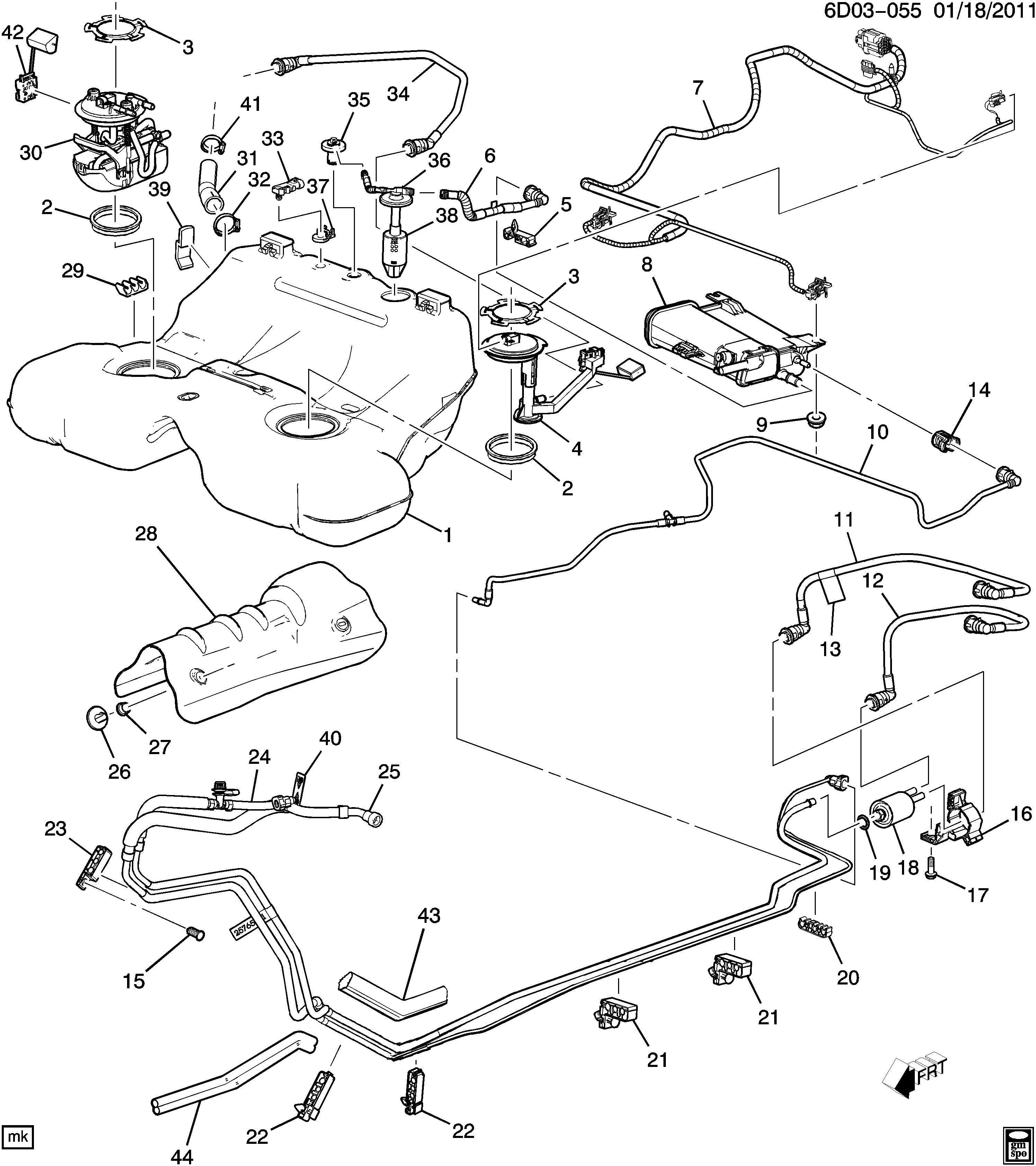 2007 Cadillac CTS Base 4DR Sender kit. Fuel tank meter