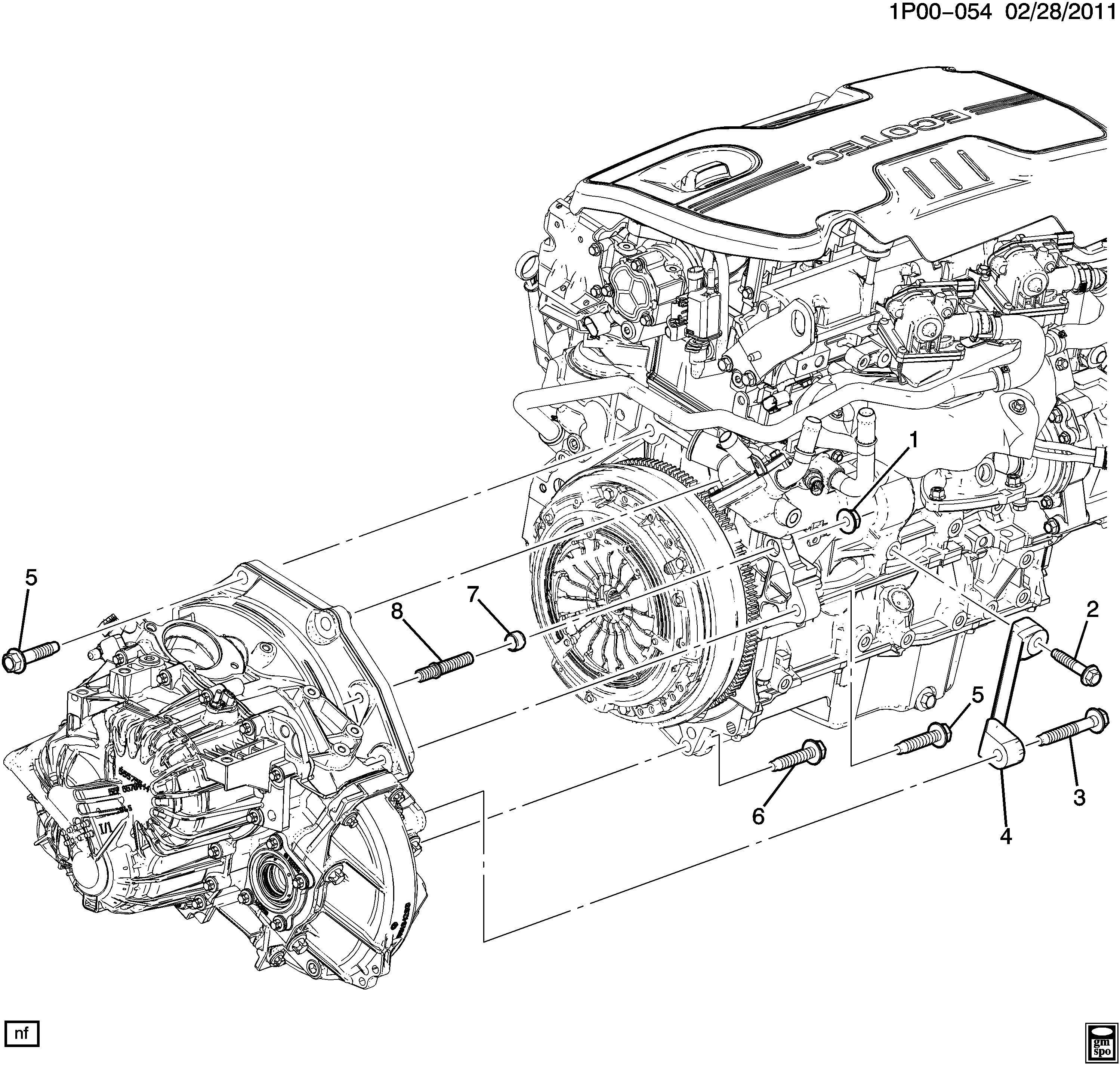 Chevrolet Orlando ENGINE TO TRANSMISSION MOUNTING