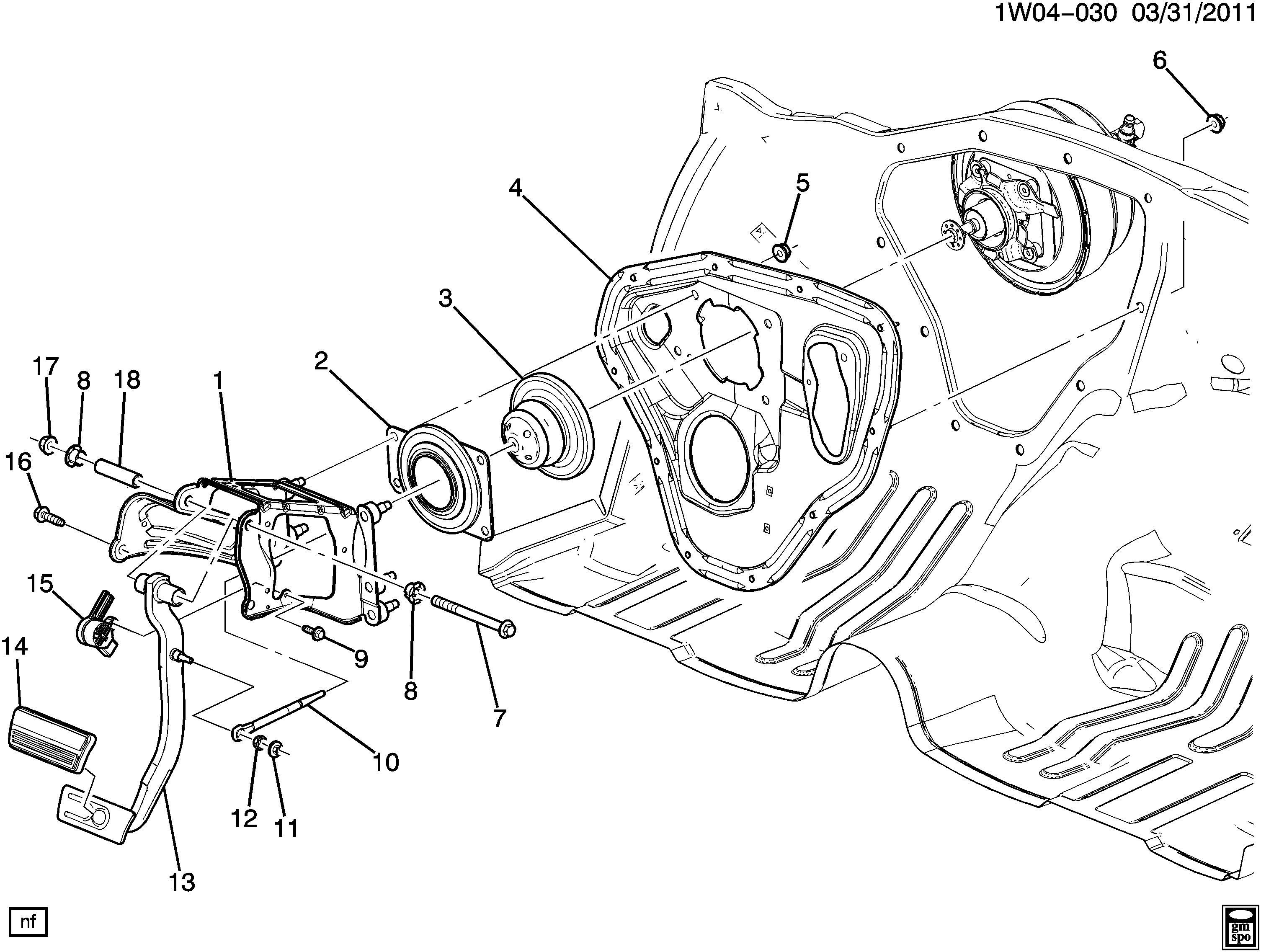 Chevrolet Impala Limited Spacer Brake Pedal Spacer Brk