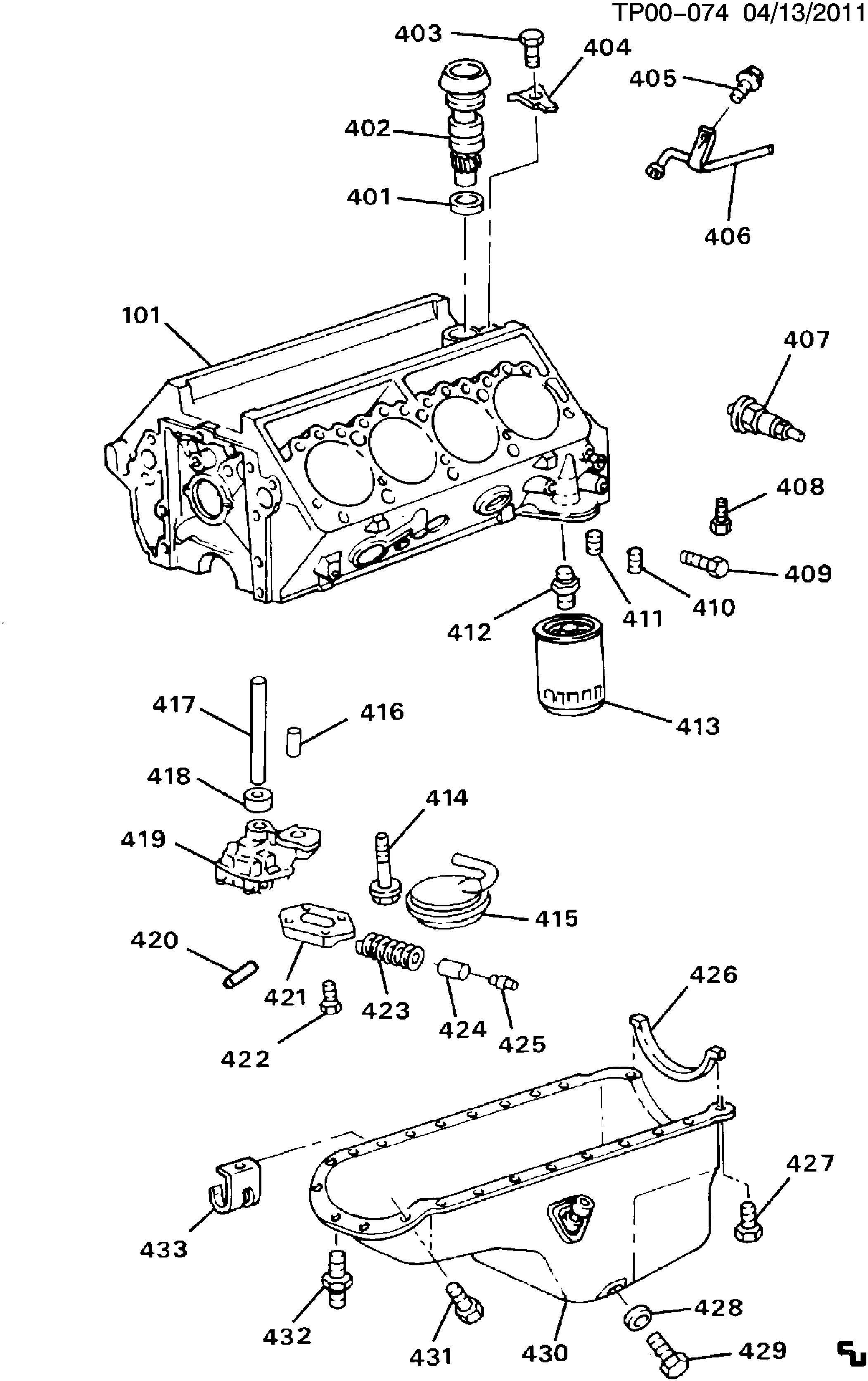 Chevrolet Blazer Spring Engine Oil Pressure