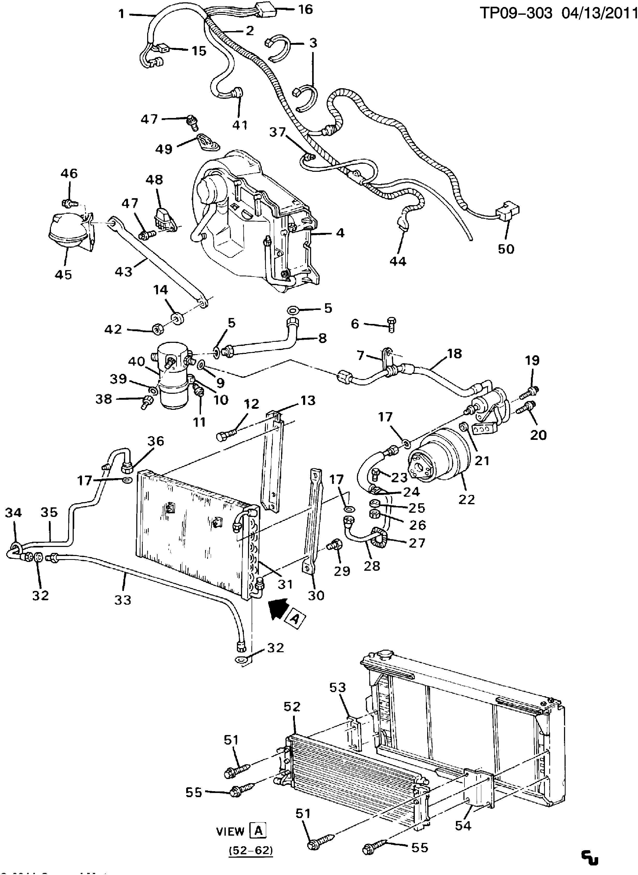 Chevrolet P30 A/C REFRIGERATION SYSTEM