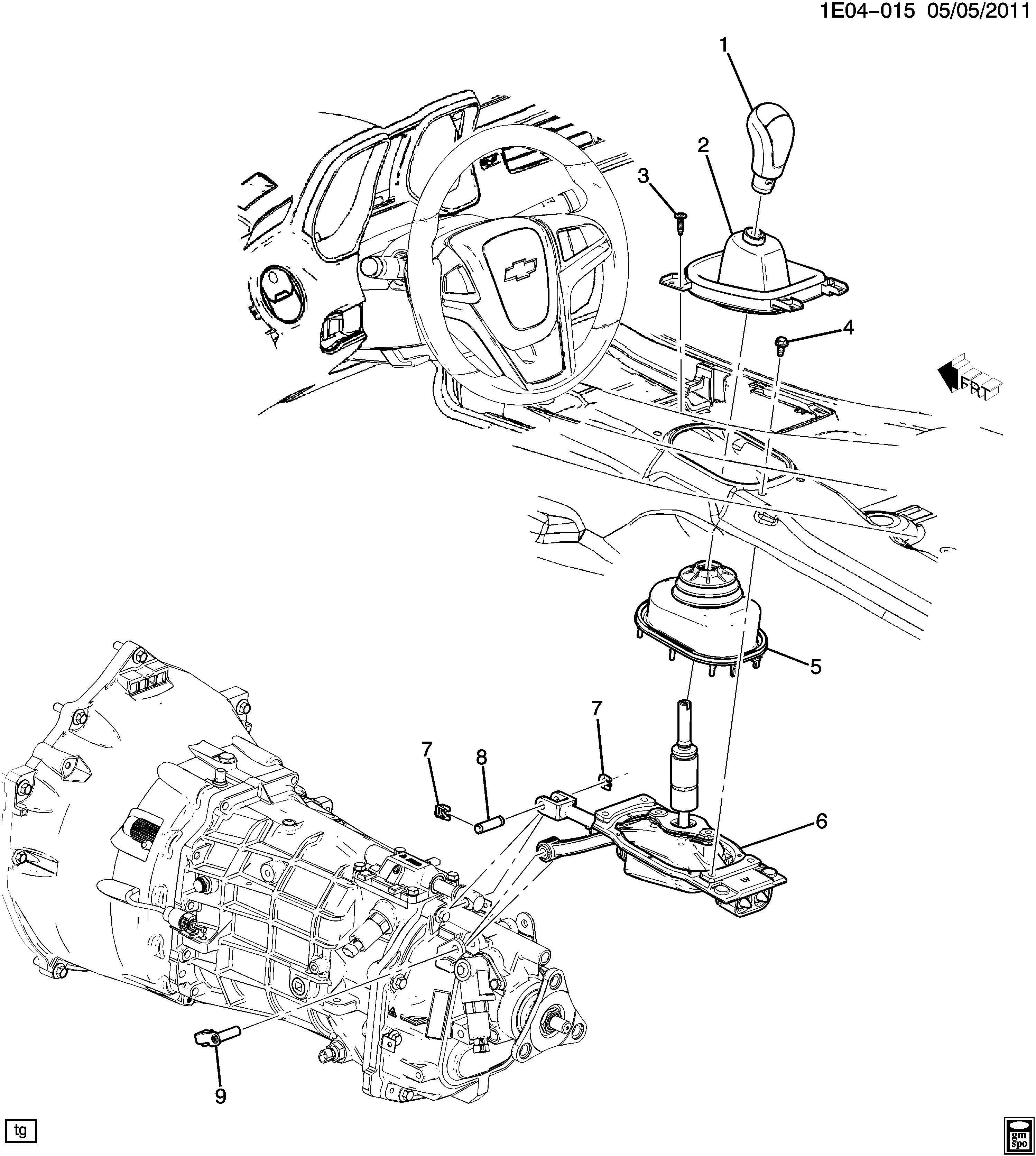 Chevrolet Camaro SS (2SS) 2DR Pin. Transmission shifter