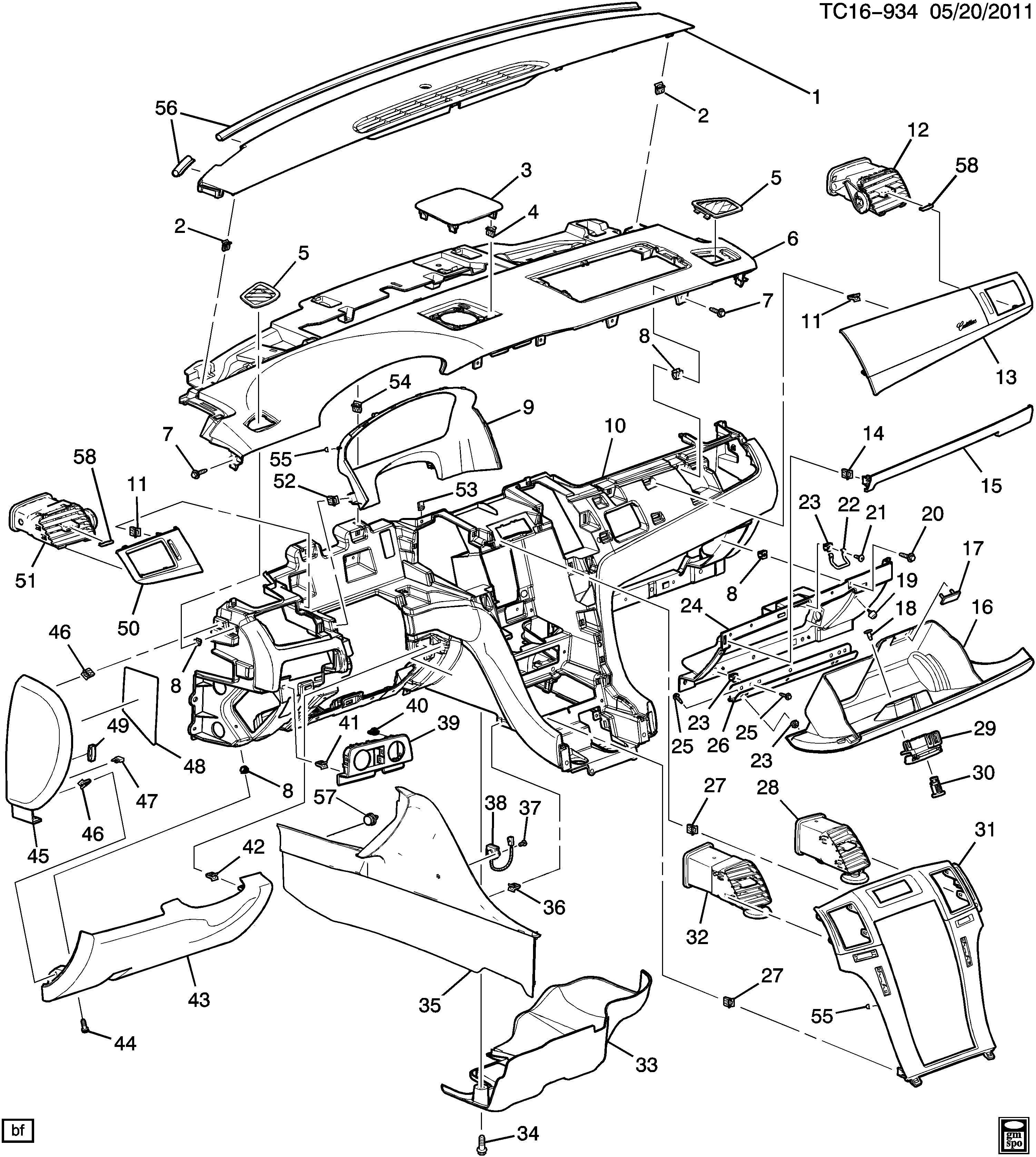 2008 Chevrolet SUBURBAN Instrument Panel Side Cover