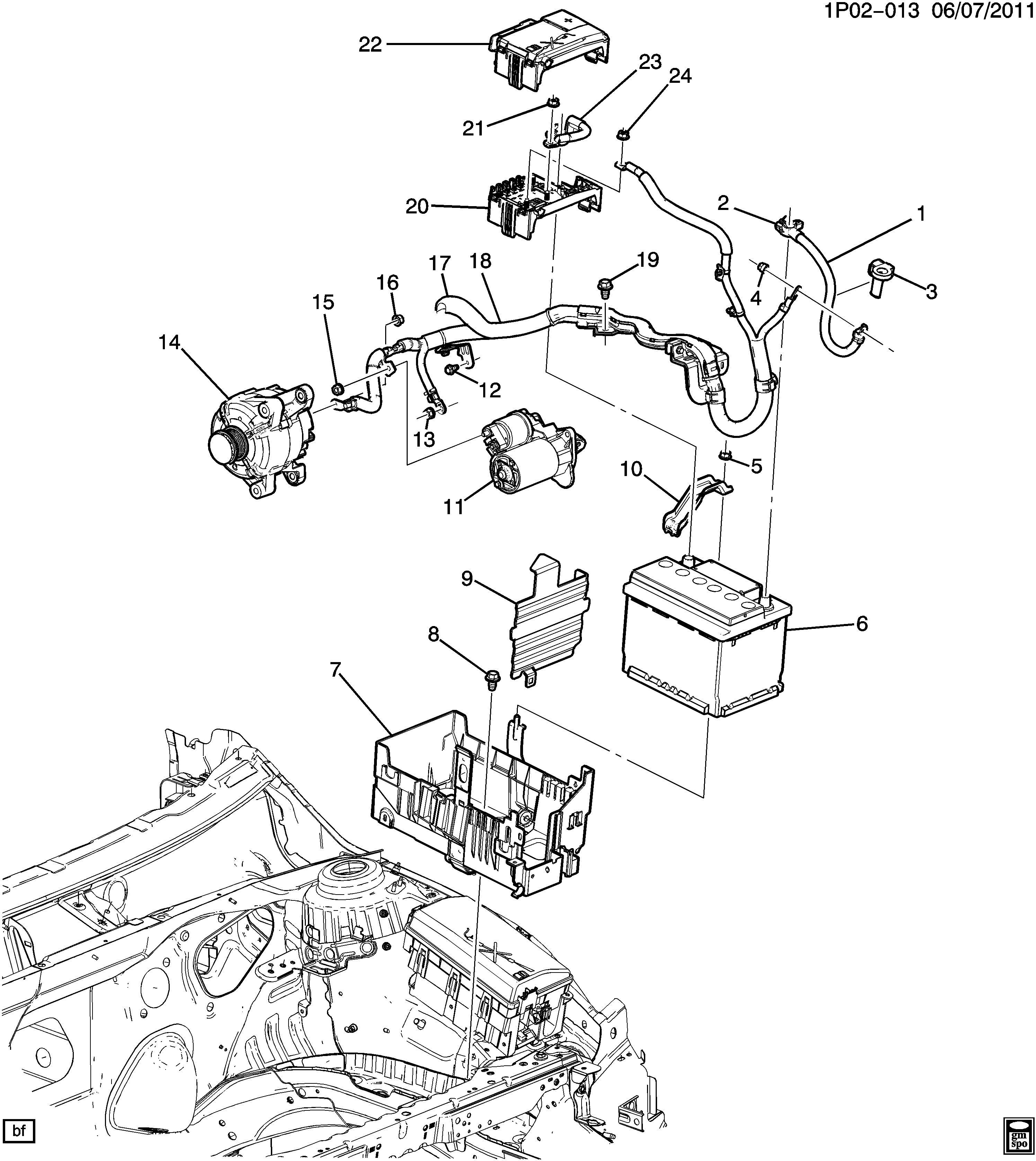 Chevrolet Cruze Block. Main wiring junction and fuse block