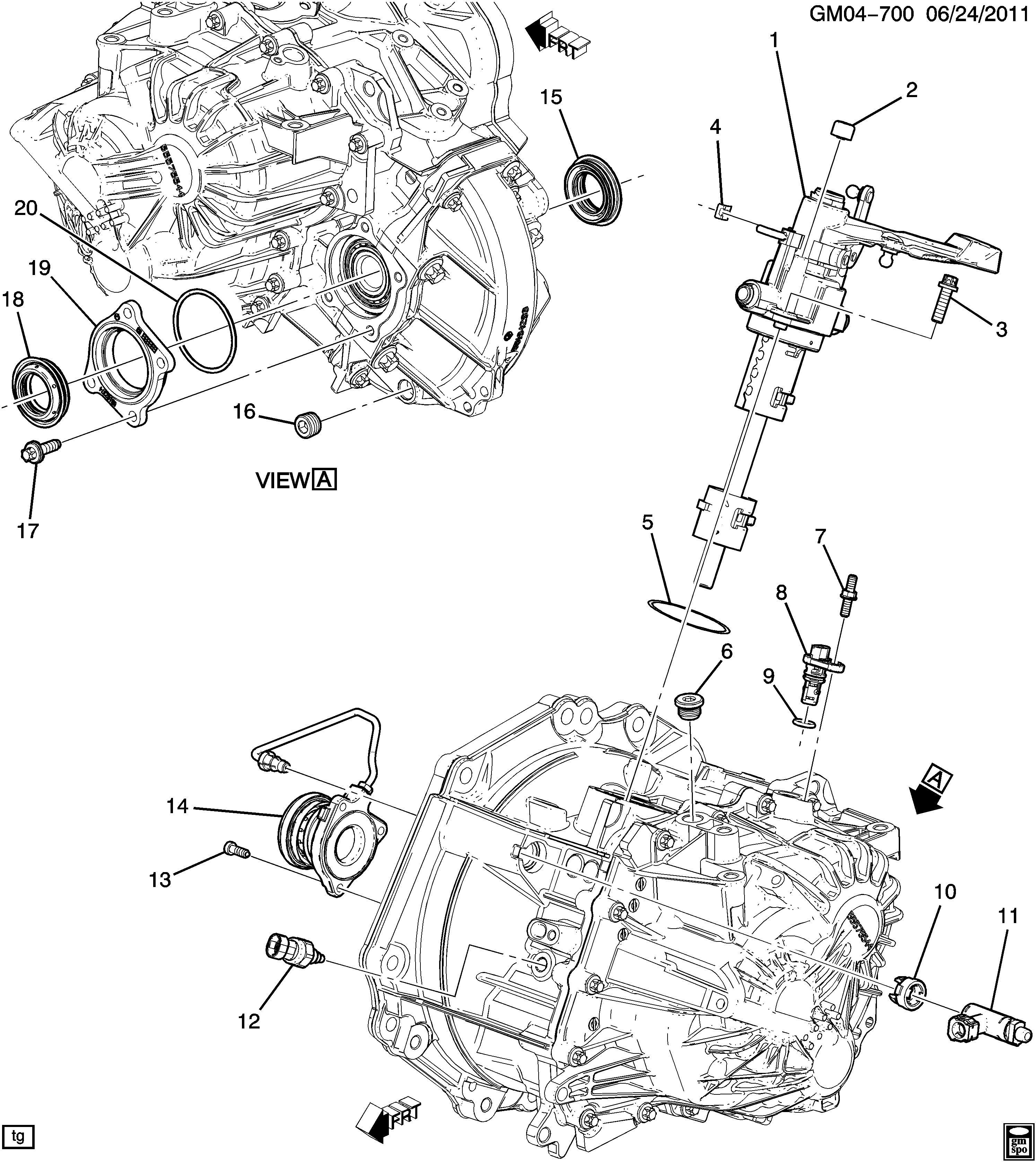 Chevrolet Sonic Seal. Front wheel drive axle shaft. Seal