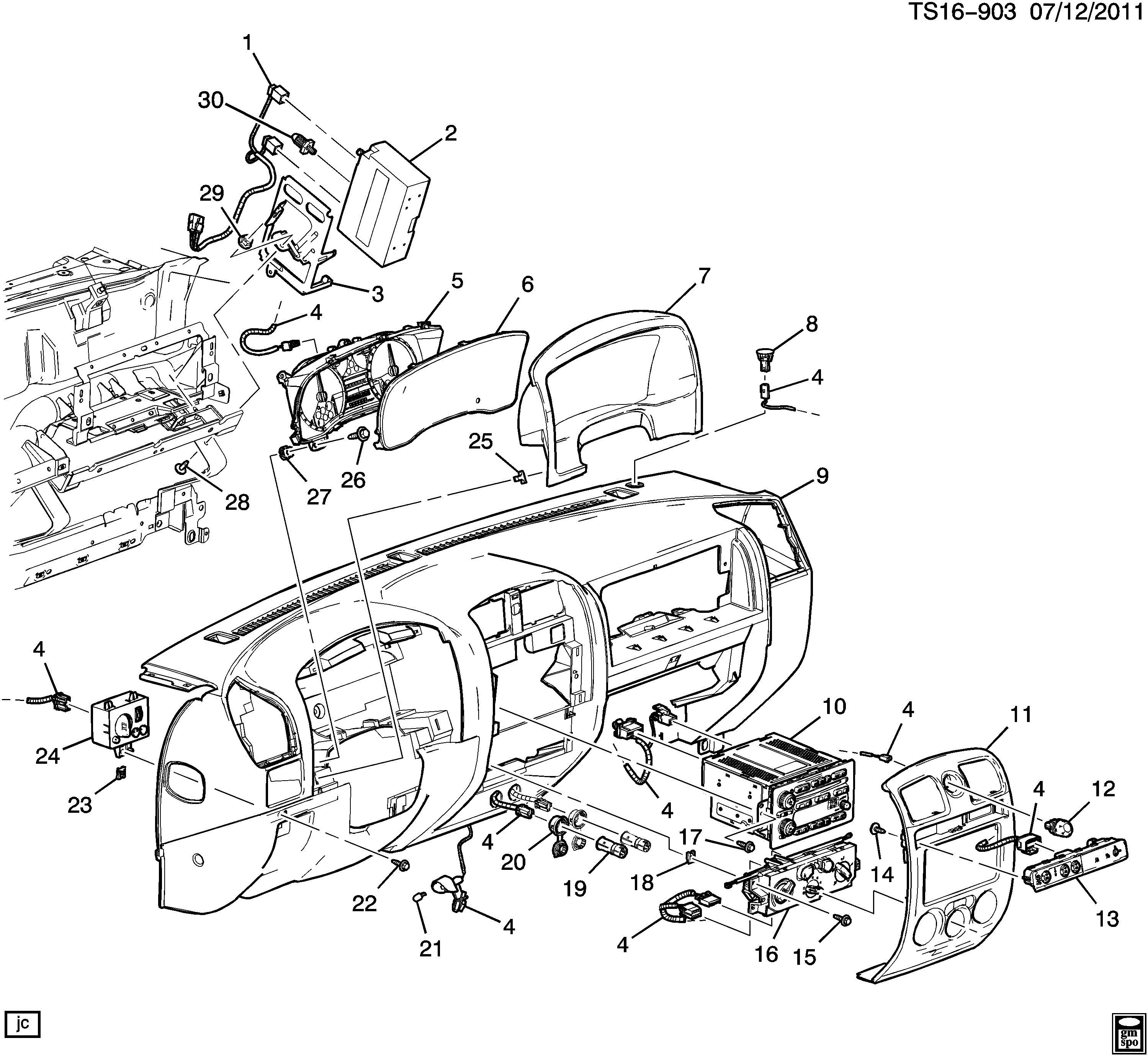 Chevrolet Colorado Cluster Instrument Panel Gage Cluster