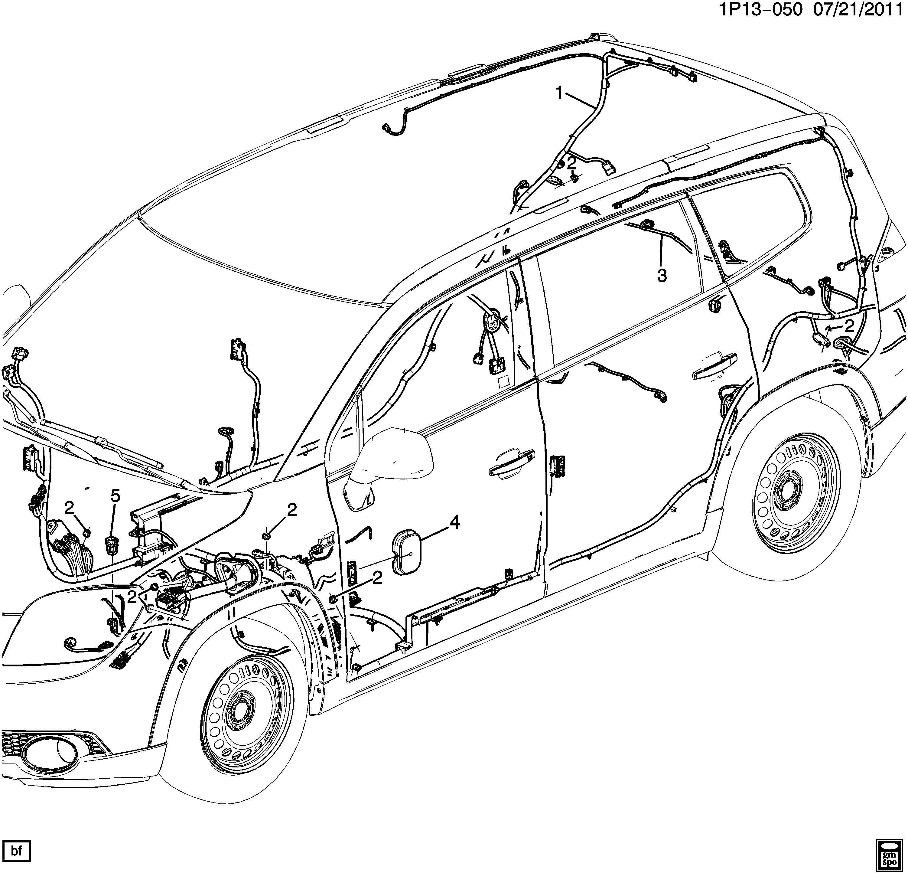 Chevrolet Orlando WIRING HARNESS/BODY