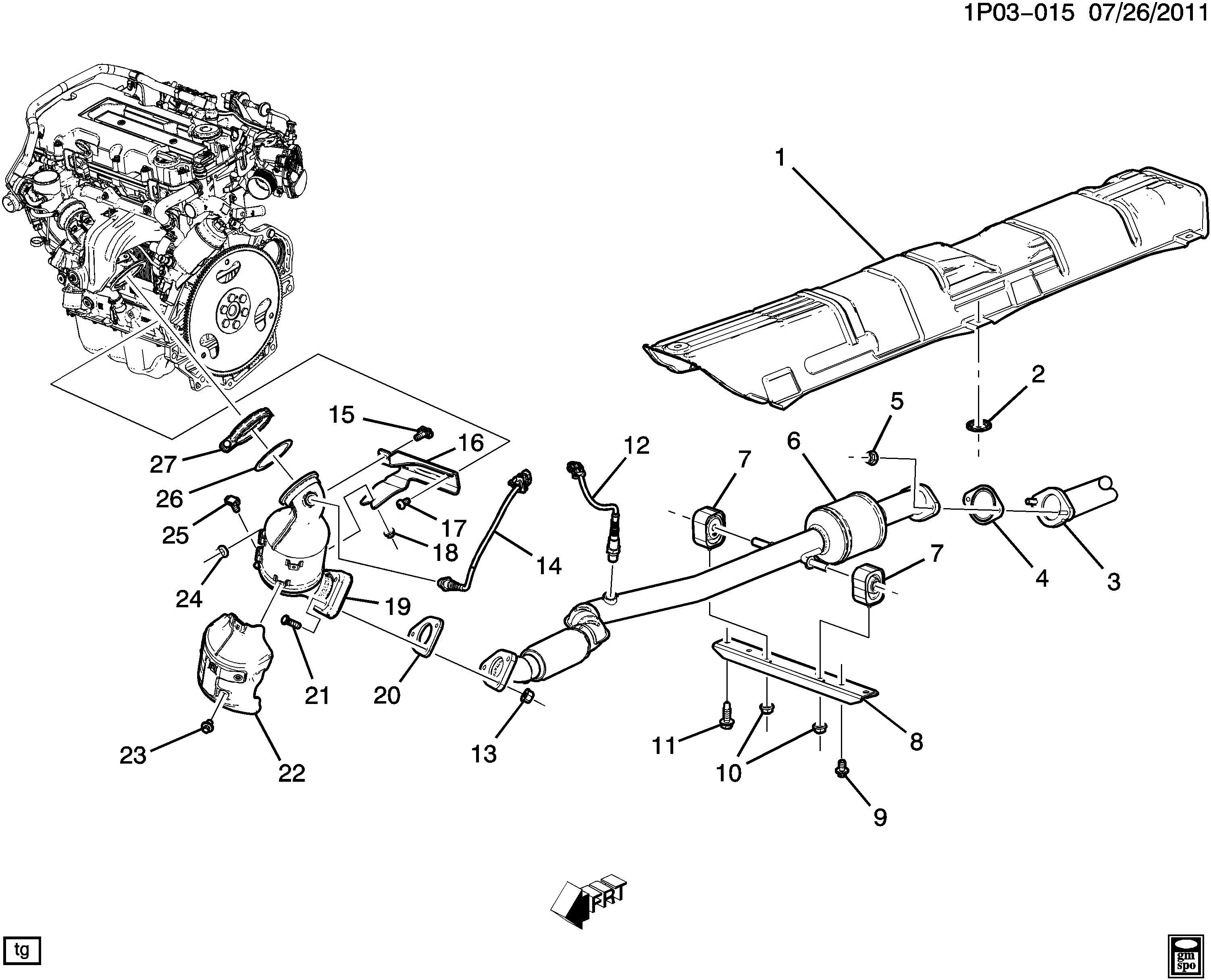 2012 Chevrolet Cruze Bolt. Intake & exhaust manifold. Bolt