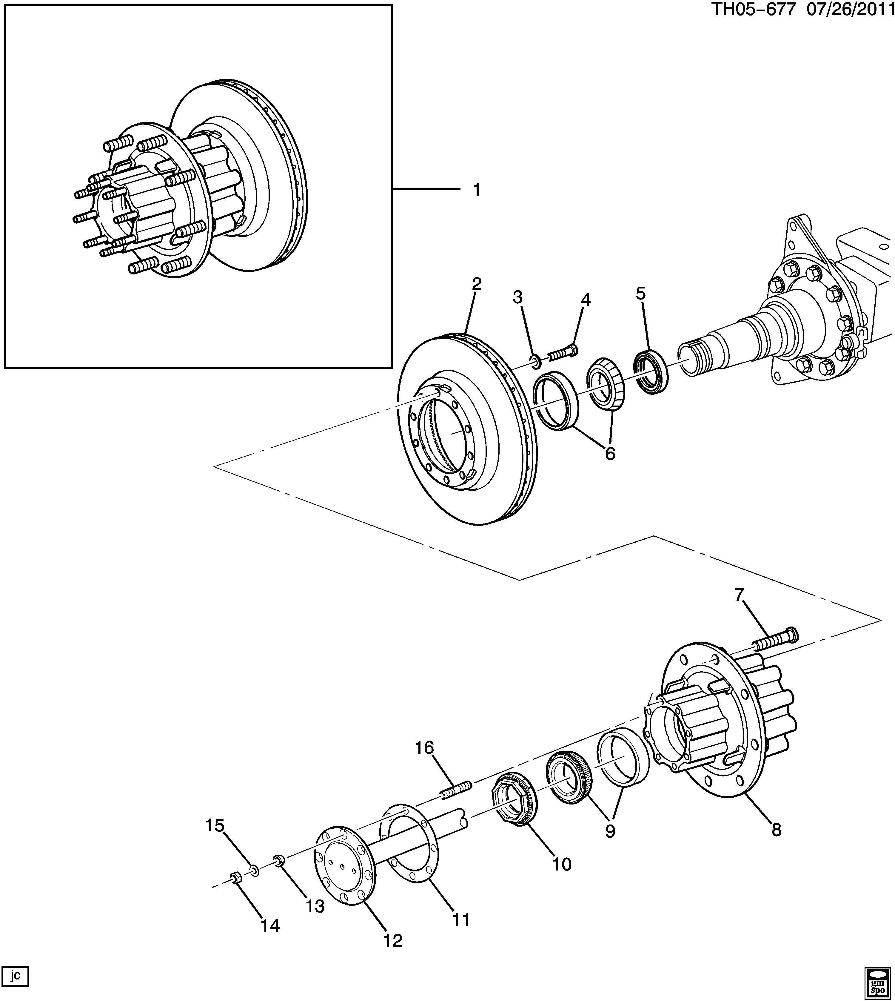 Gmc C Bolt Front And Rear Wheel Rear Wheel Bearing