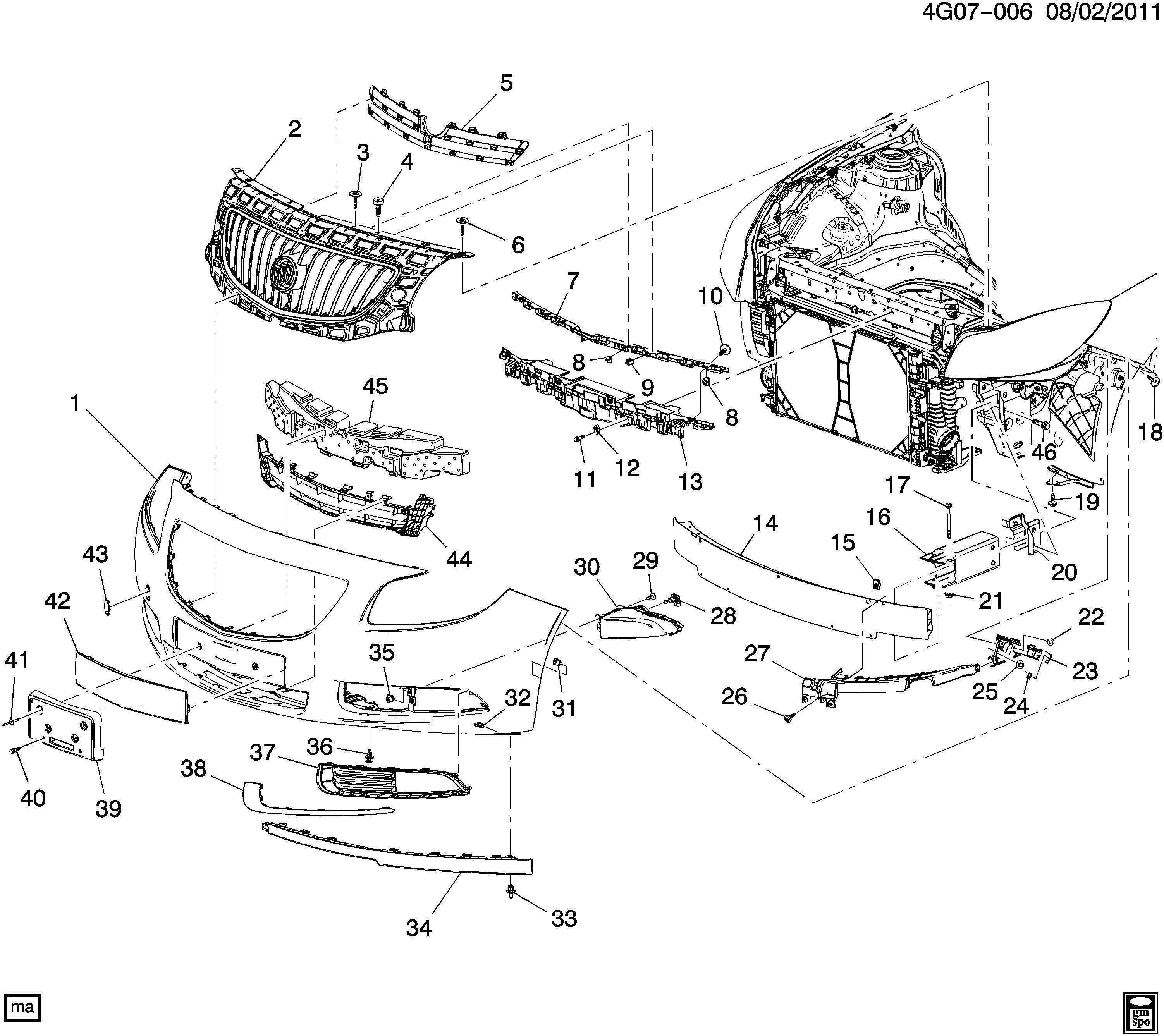 Buick Regal Grille. Radiator grille. Grille, frt lwr