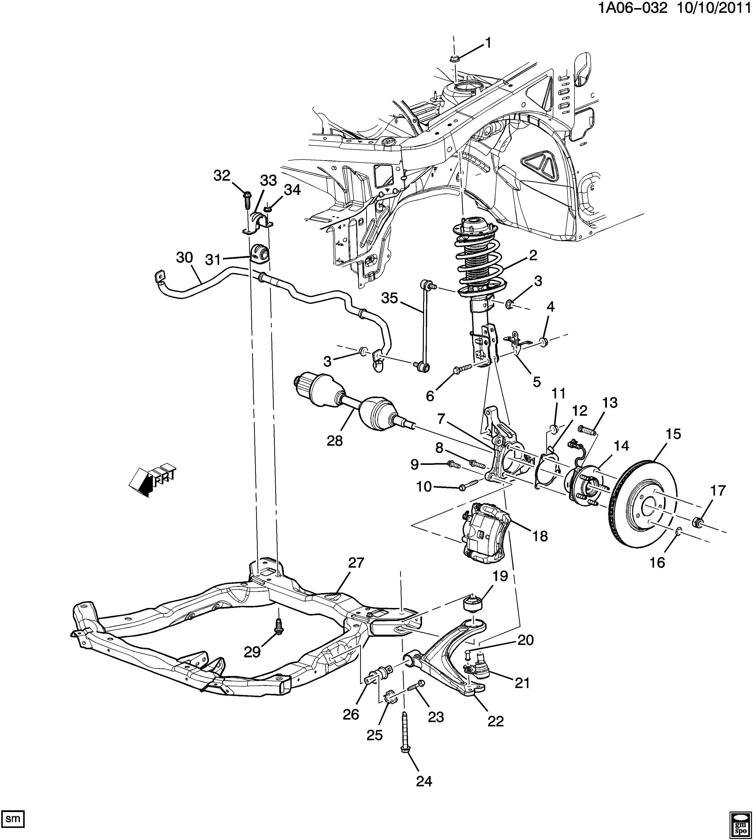 2008 Chevrolet Cobalt Knuckle. Steering. Knuckle, strg