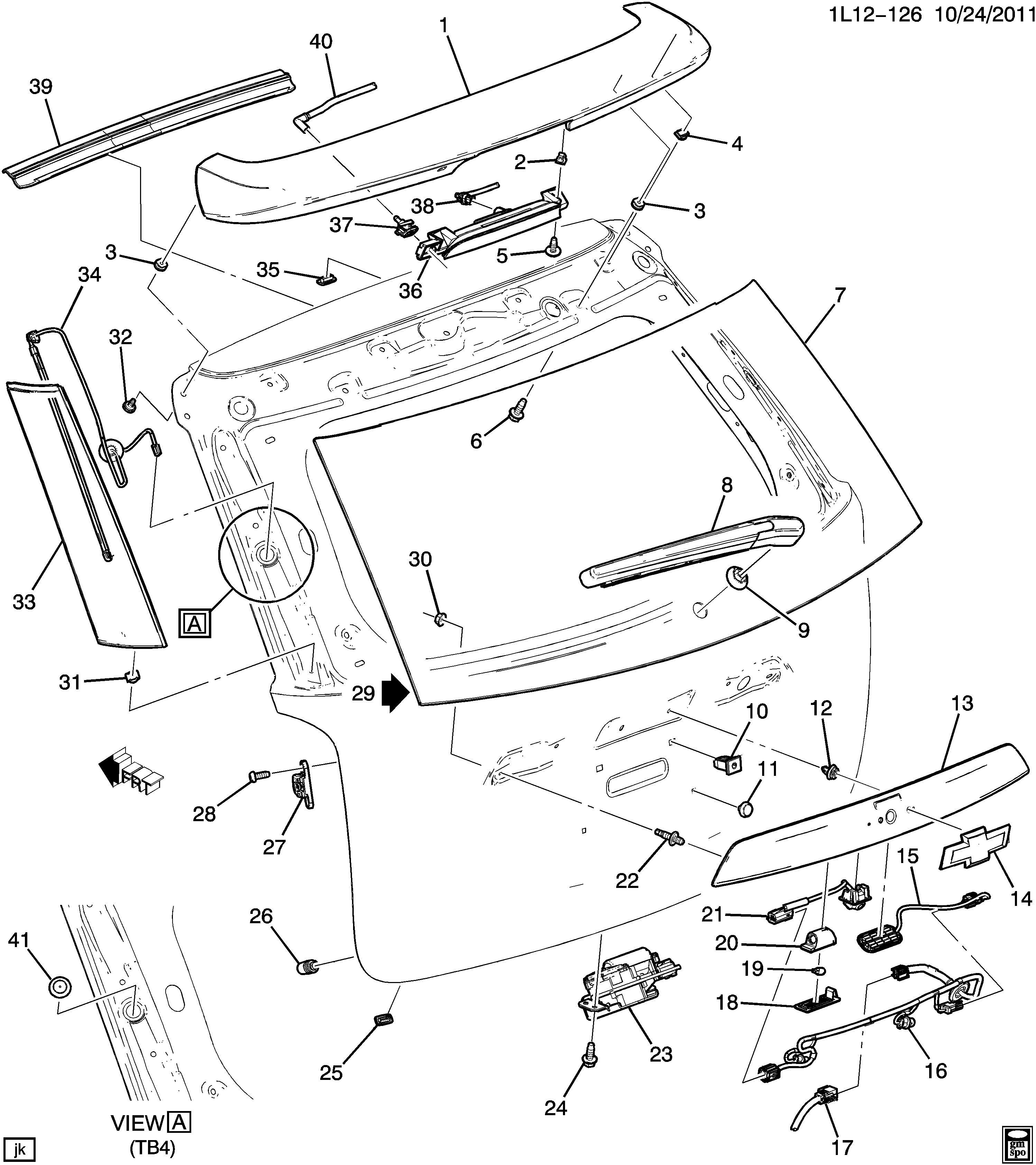 Chevrolet Equinox Harness Body Wiring Harness L Gate