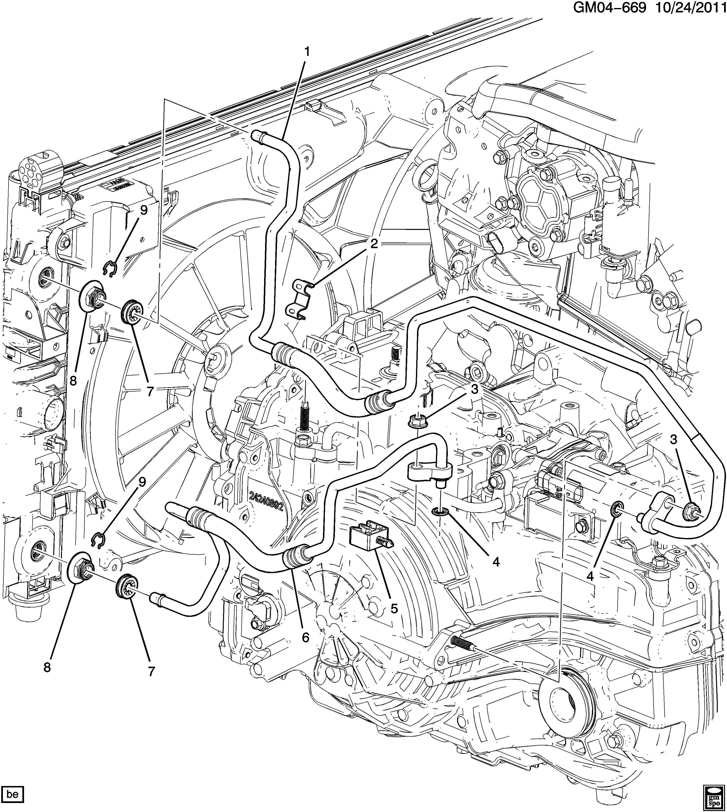Chevrolet Impala Cap Engine Oil Cooler Transmission Oil