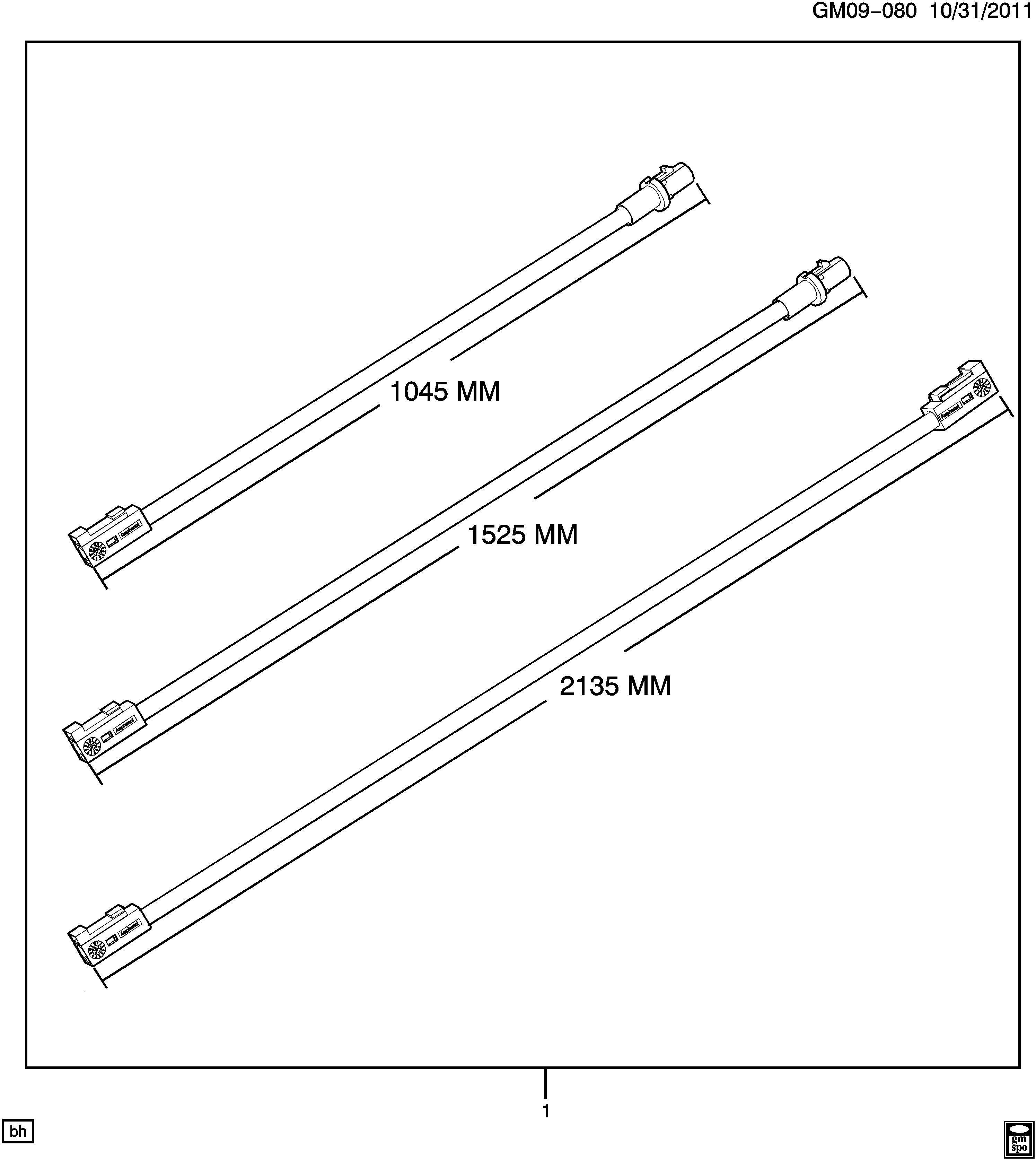 Cadillac CTS Cable kit. Radio antenna. Vehicle navigation