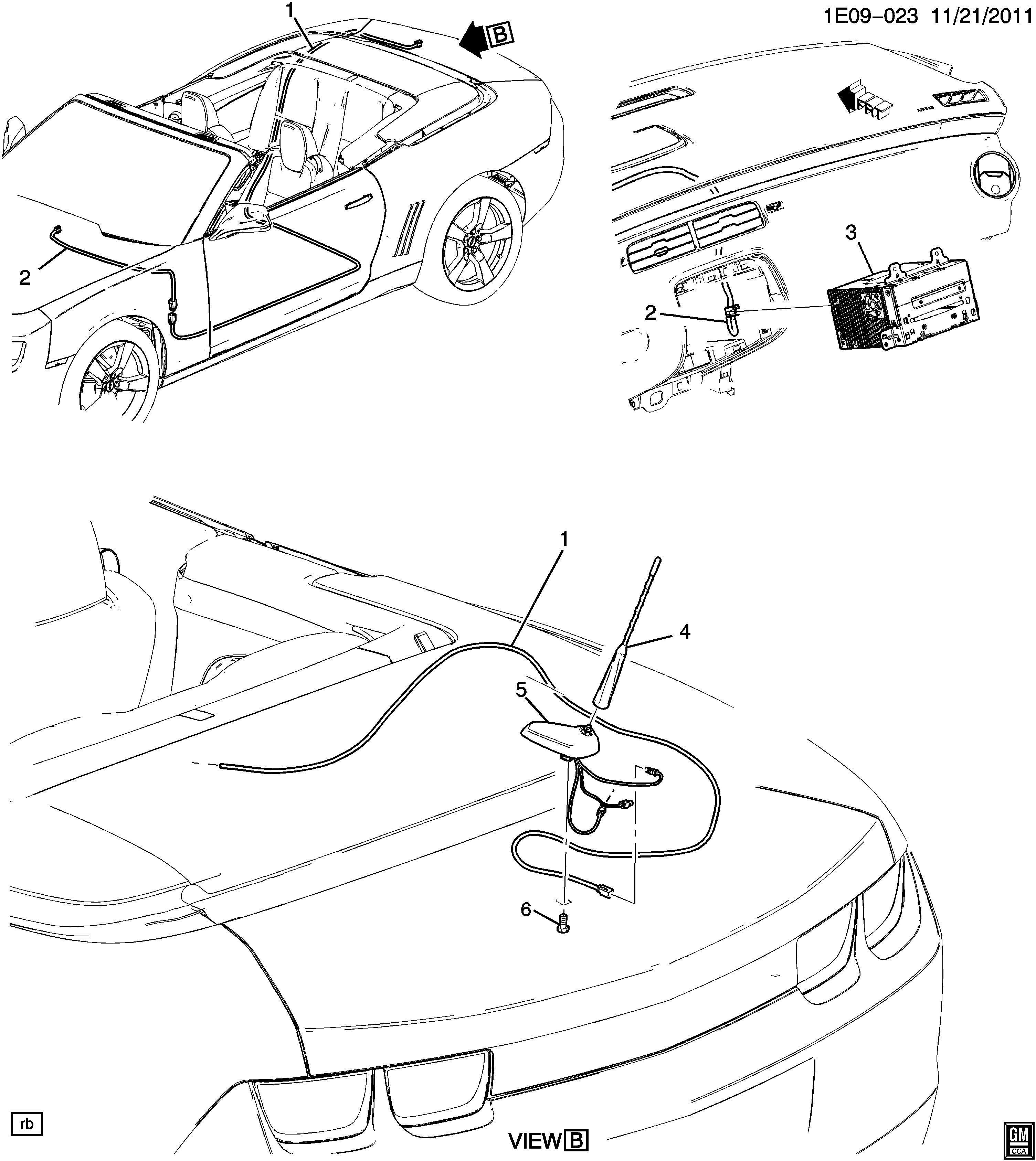 Chevrolet Camaro Cable. Radio antenna. Cable, rdo ant