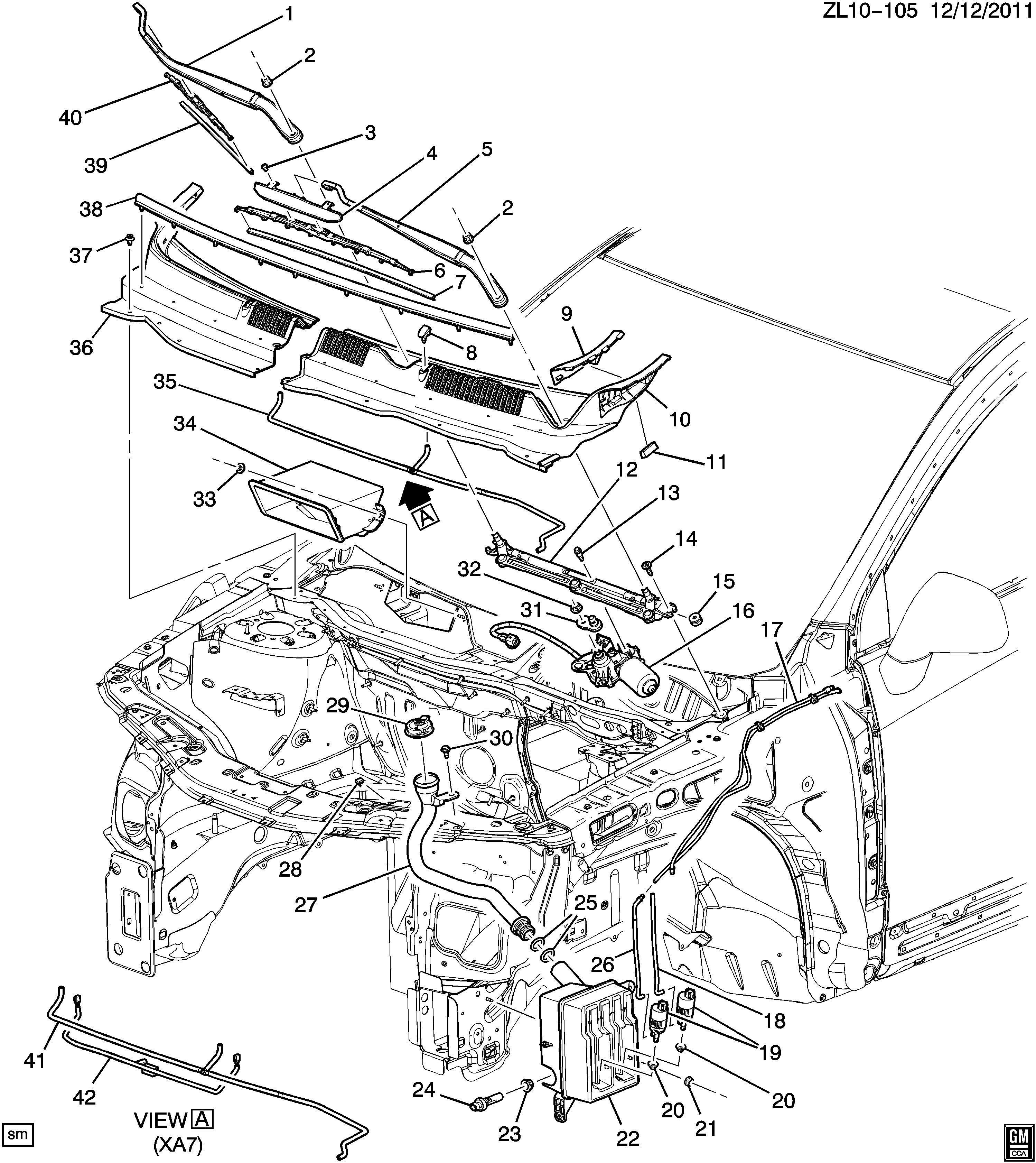 2008 Chevrolet Captiva Motor. Windshield wiper motor