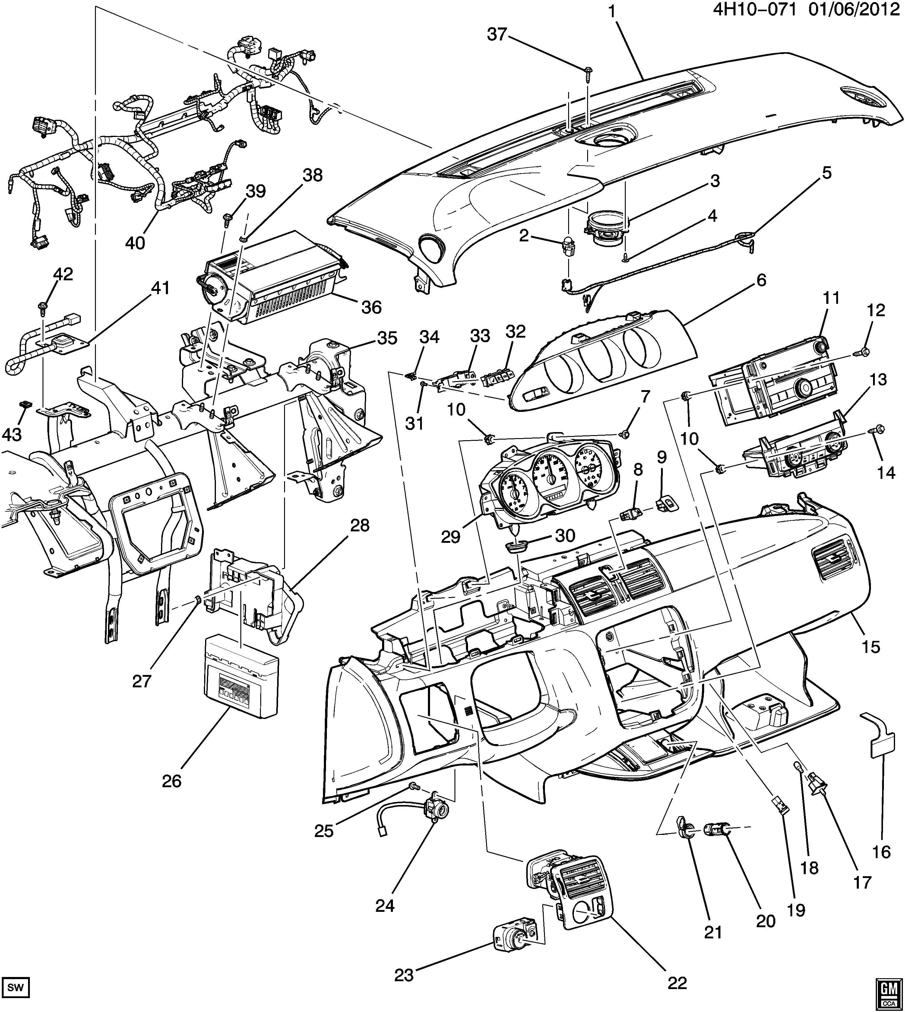 Buick Lucerne Speaker. Radio receiver. Speaker, rdo frt
