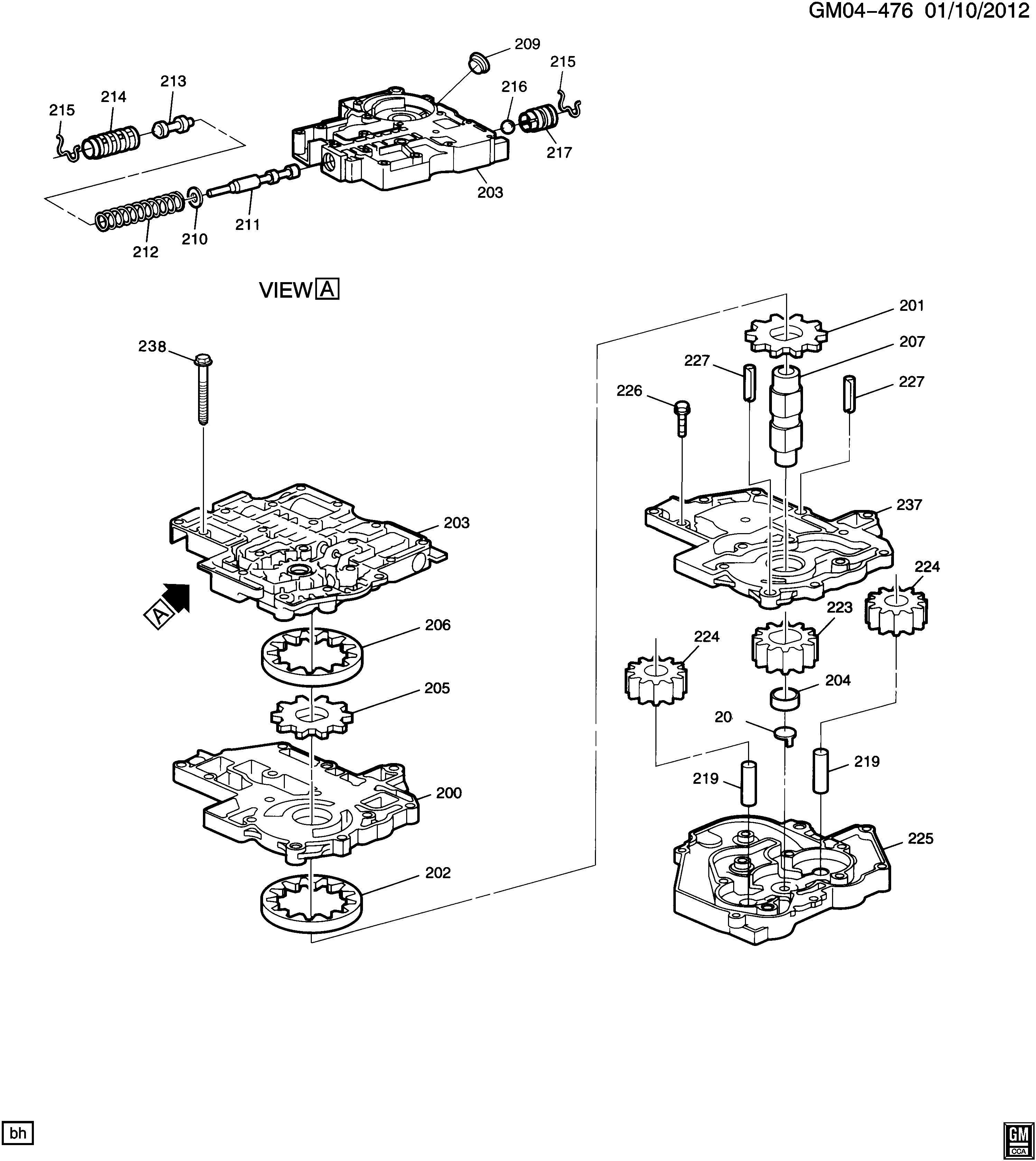Buick Lucerne Gasket Kit Transmission Overhaul Gasket