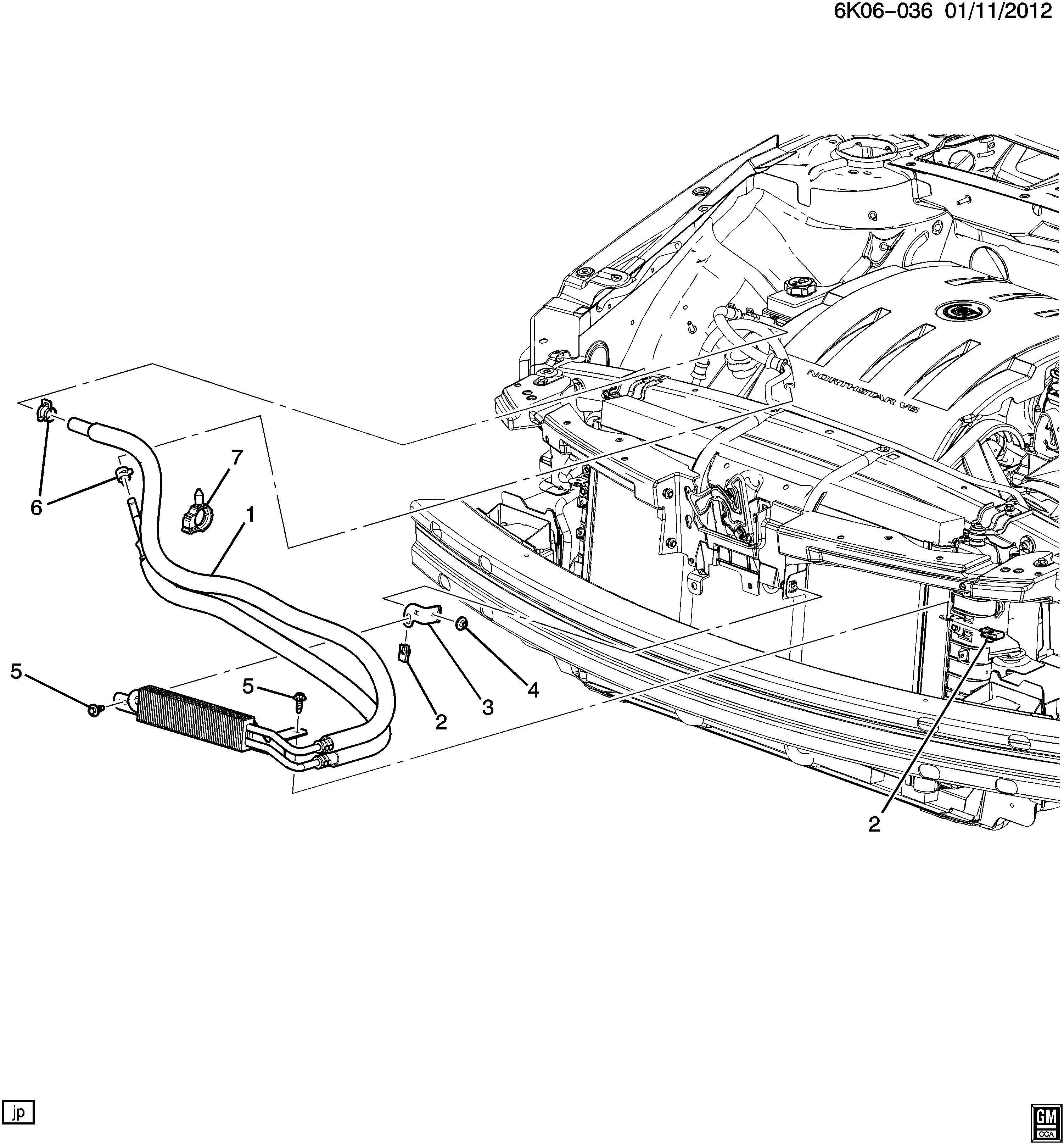 Cadillac DTS Cooler kit. Power steering fluid. Cooler kit