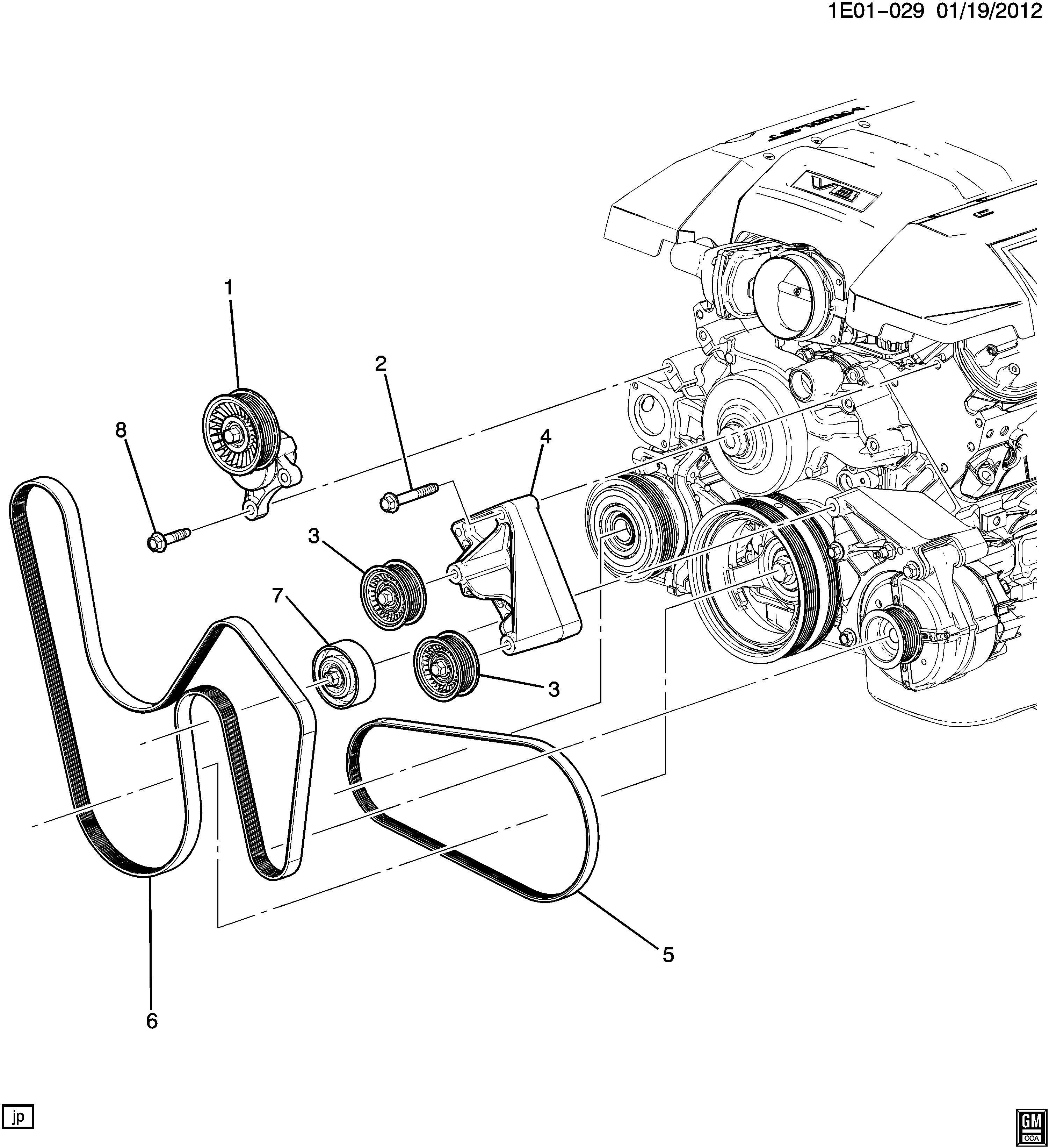 2014 Chevrolet Camaro SS (2SS) 2DR Belt kit. Drive. Belt