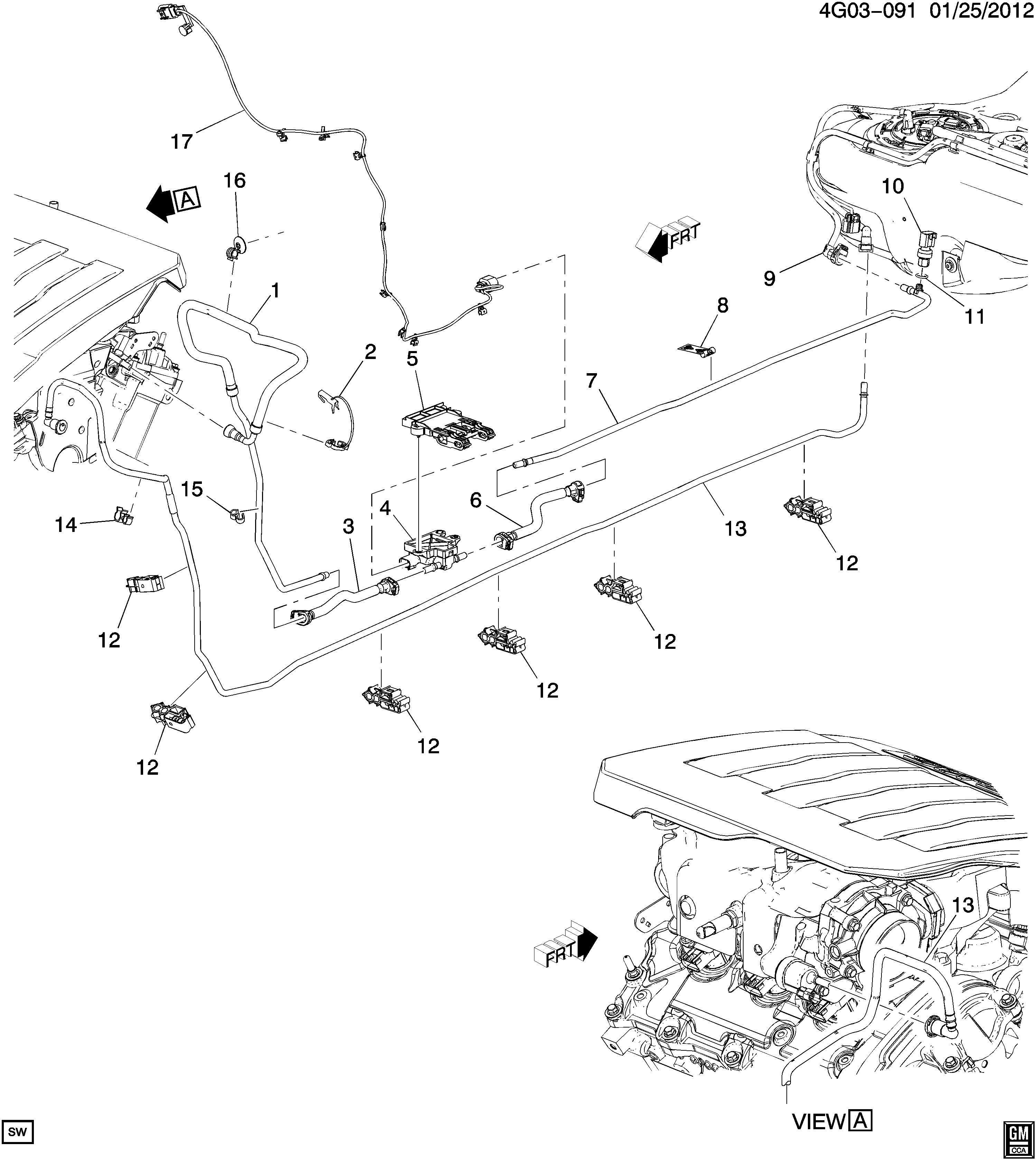 the engine diagram for gm v6 vvt engine