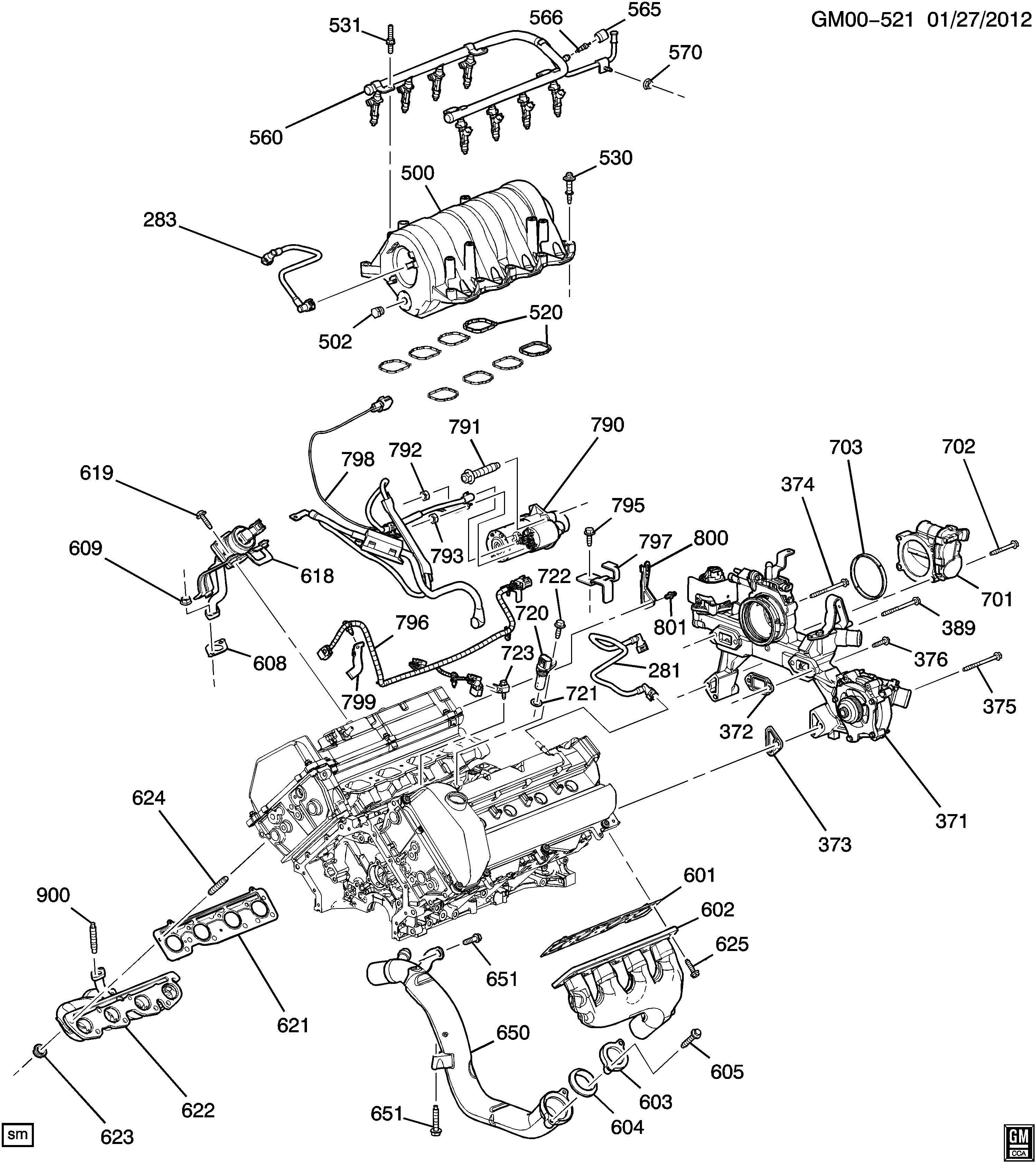 Cadillac Dts Tube Engine Crankcase Ventilation Tube Pcv