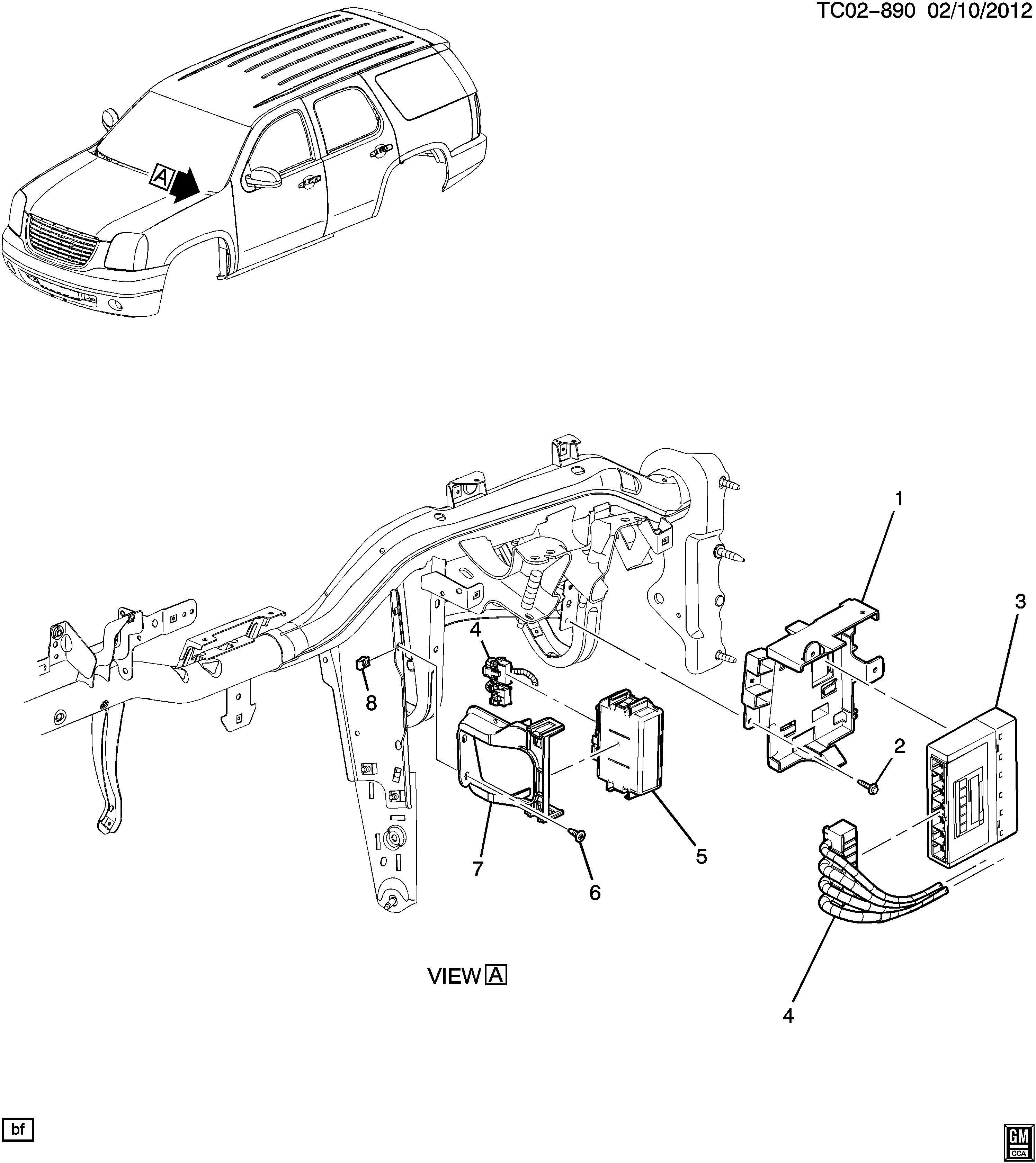 Chevrolet Tahoe Module Body Control Amp Serial Data Gateway