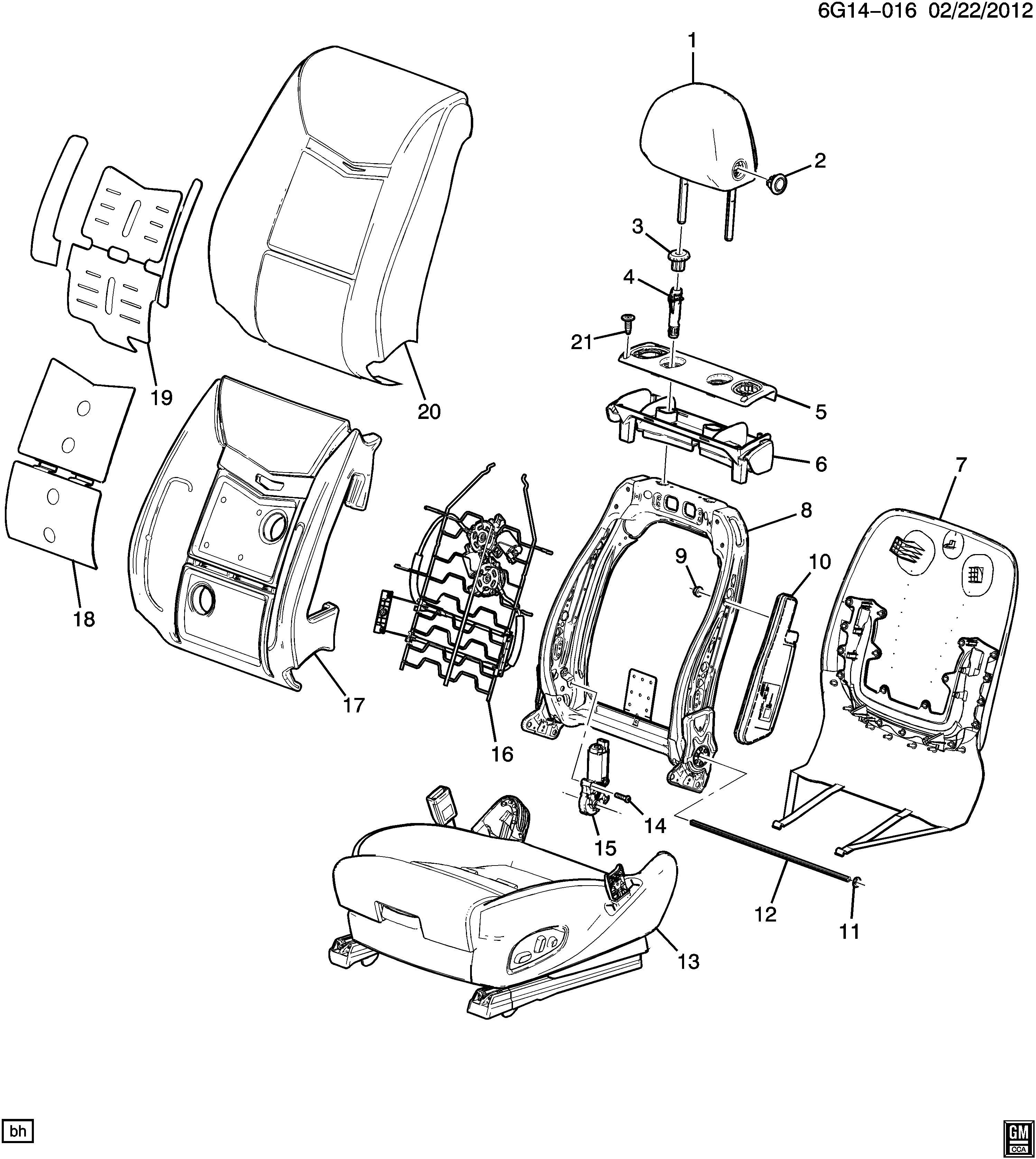 Buick LaCrosse Actuator. Front seat back reclining