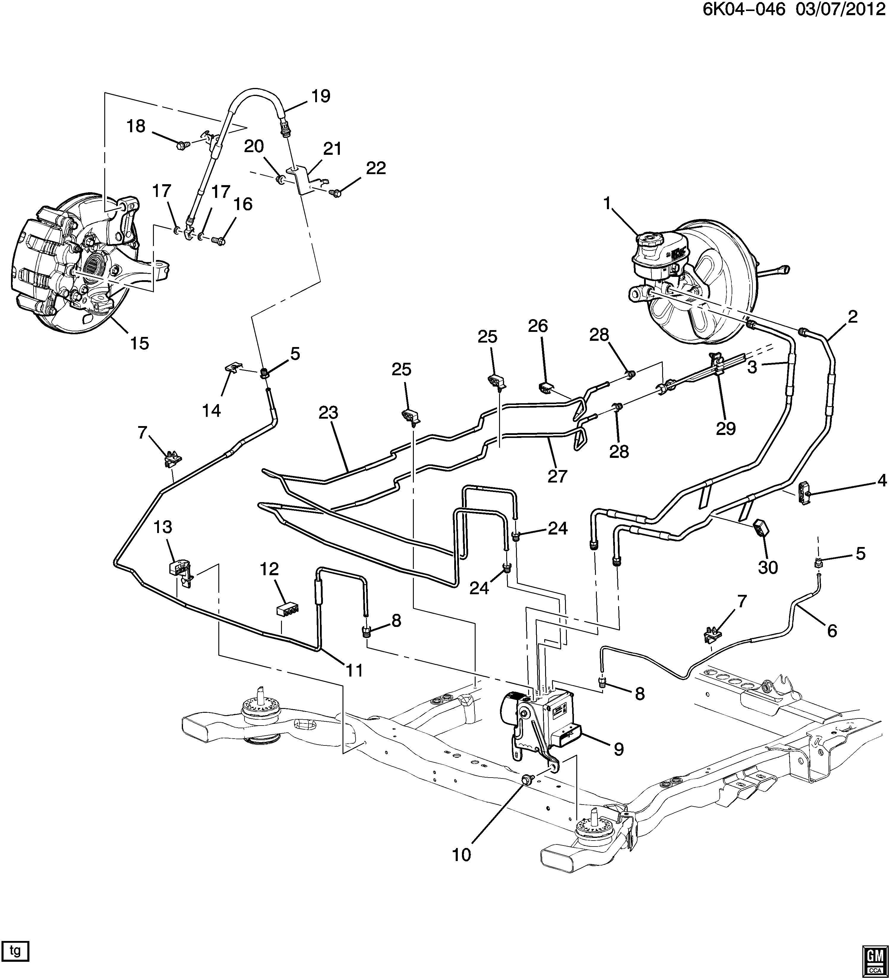 Buick Lucerne Pipe. Hydraulic brake. Pipe, brk press mod