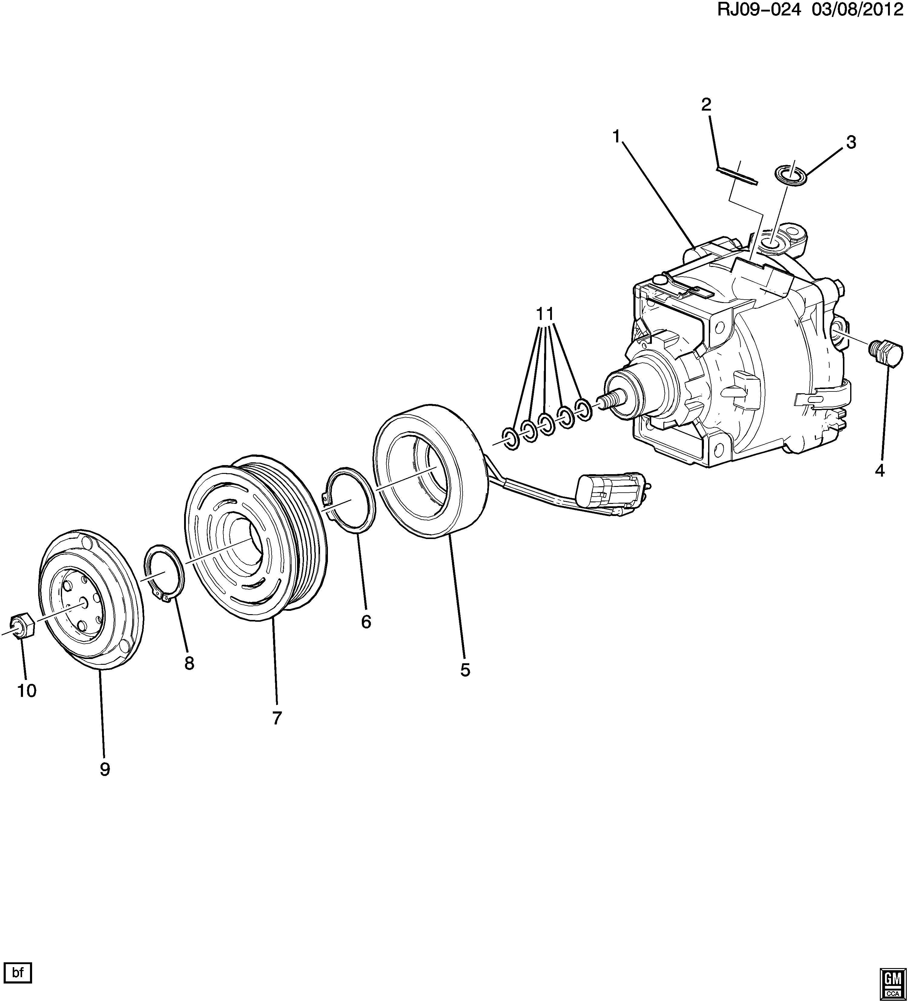 2013 Chevrolet Sonic LTZ 4DR Compressor kit. Air