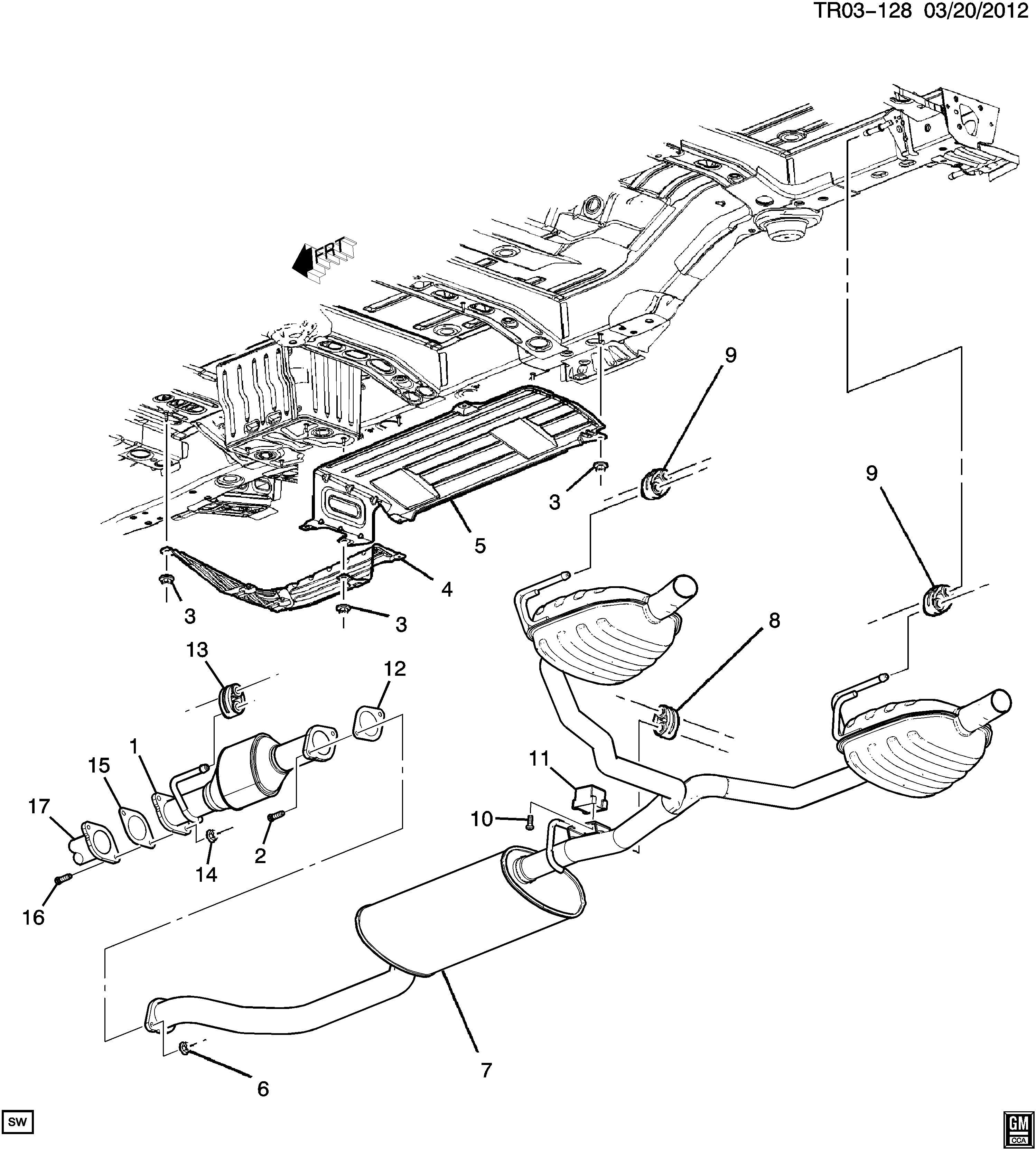 Chevrolet Traverse Converter Catalytic Converter Exhaust