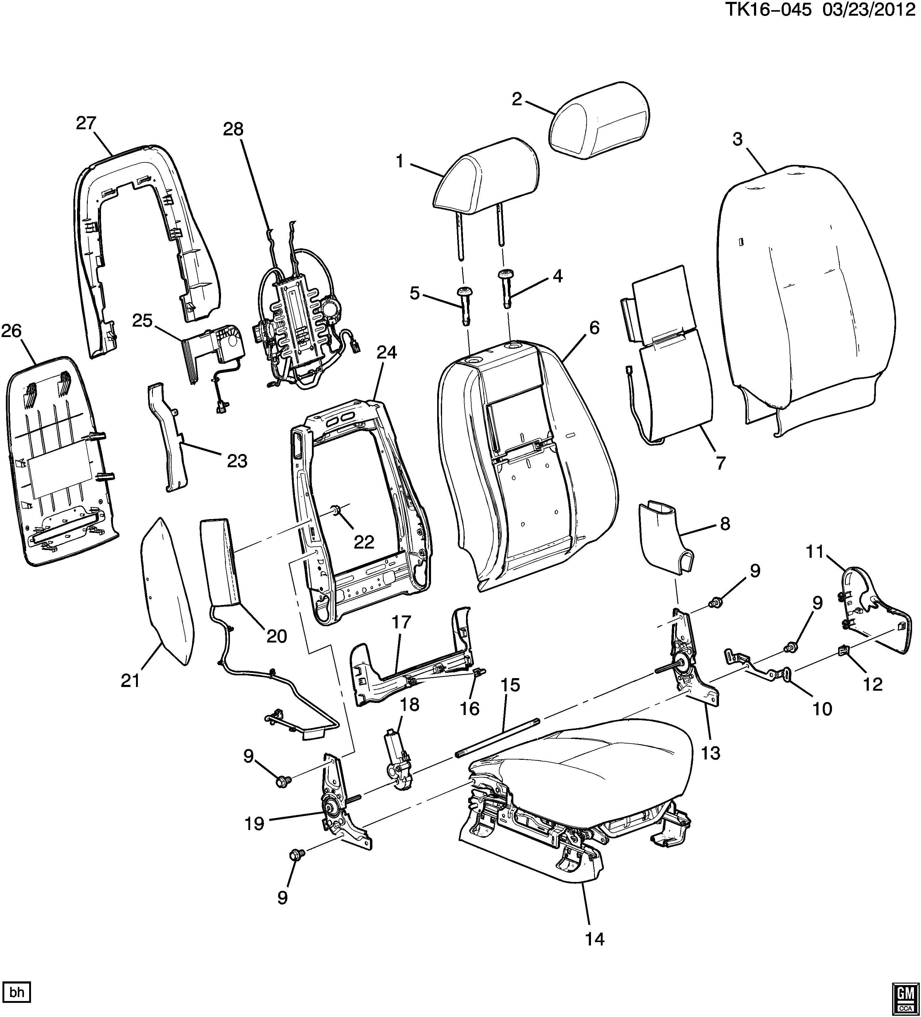 2012 Chevrolet Silverado Seat Lumbar Support Cushion
