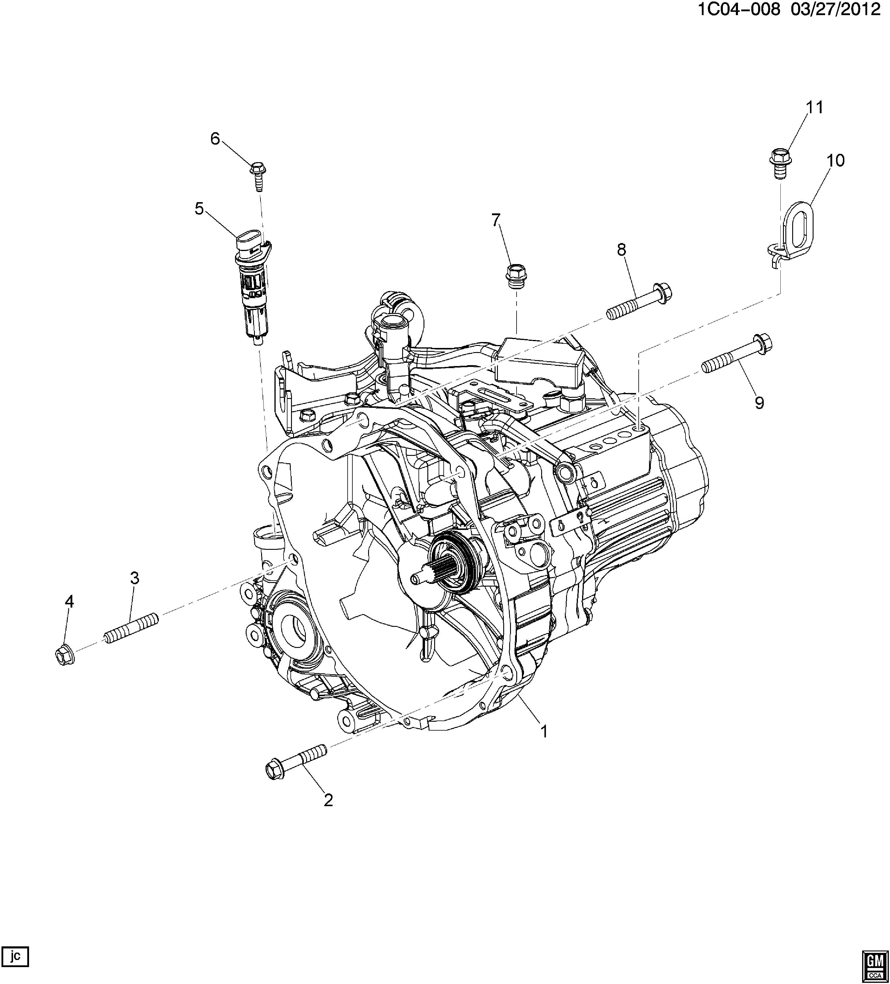 2013 Chevrolet Spark Manual Transmission Assembly. Manual