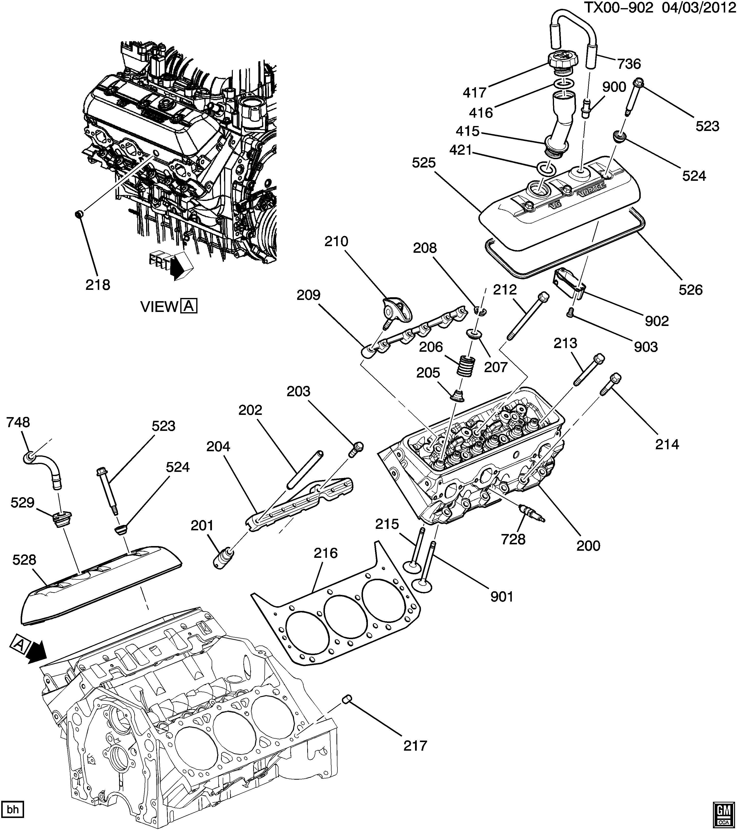 Cadillac Escalade Fitting Engine Crankcase Ventilation