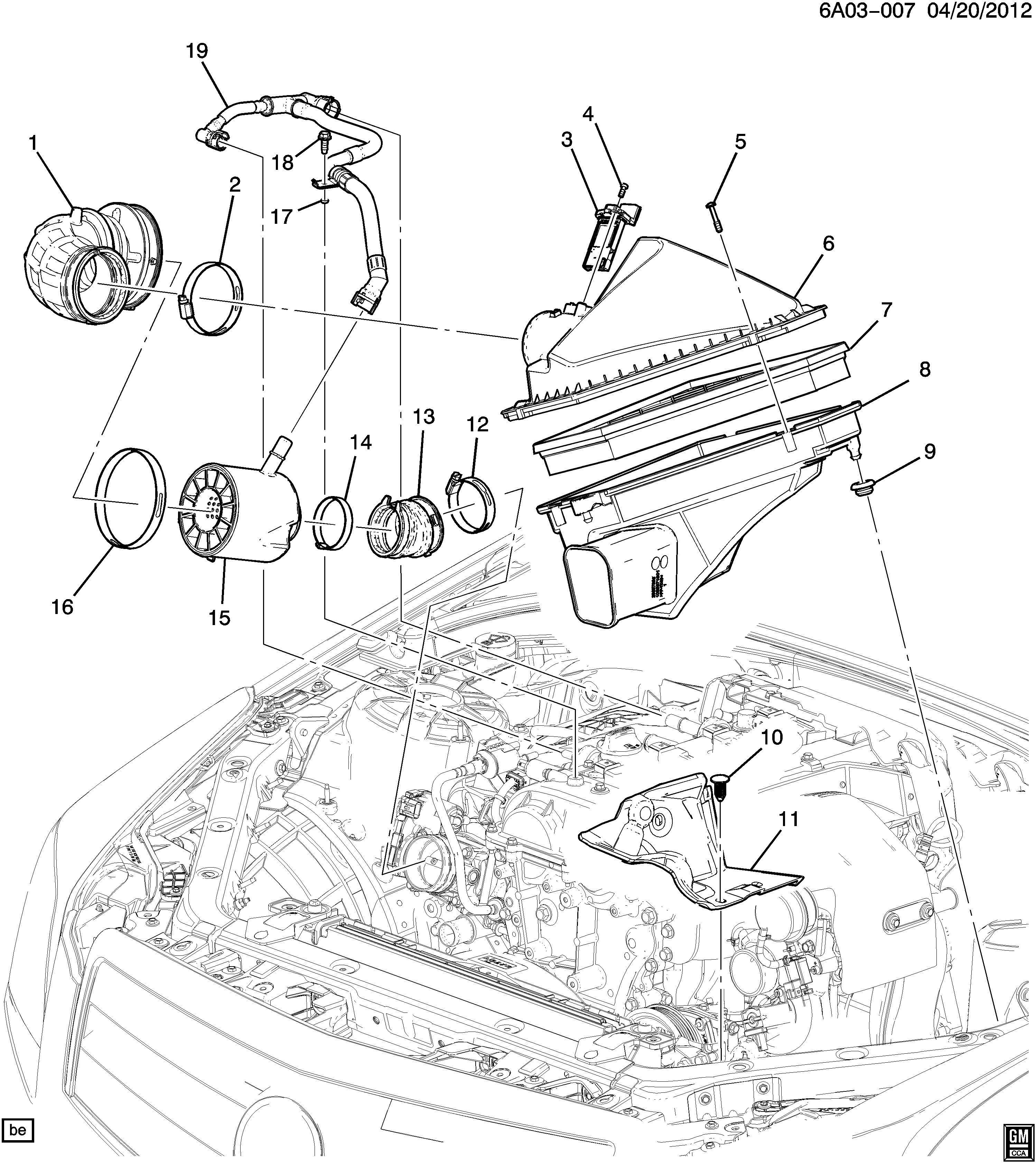Cadillac Ats Tube Engine Crankcase Ventilation Tube Pcv