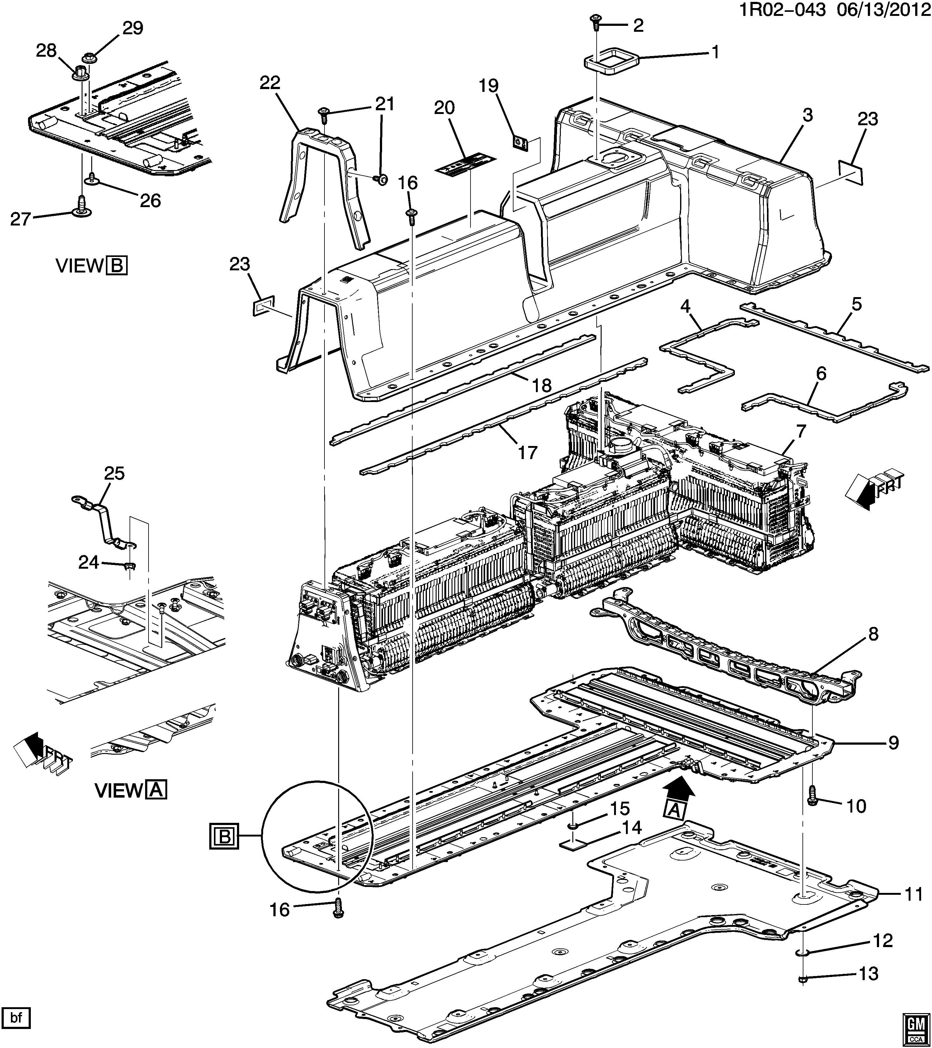 Chevrolet Volt Insulator Battery Insulator Bat Cover To