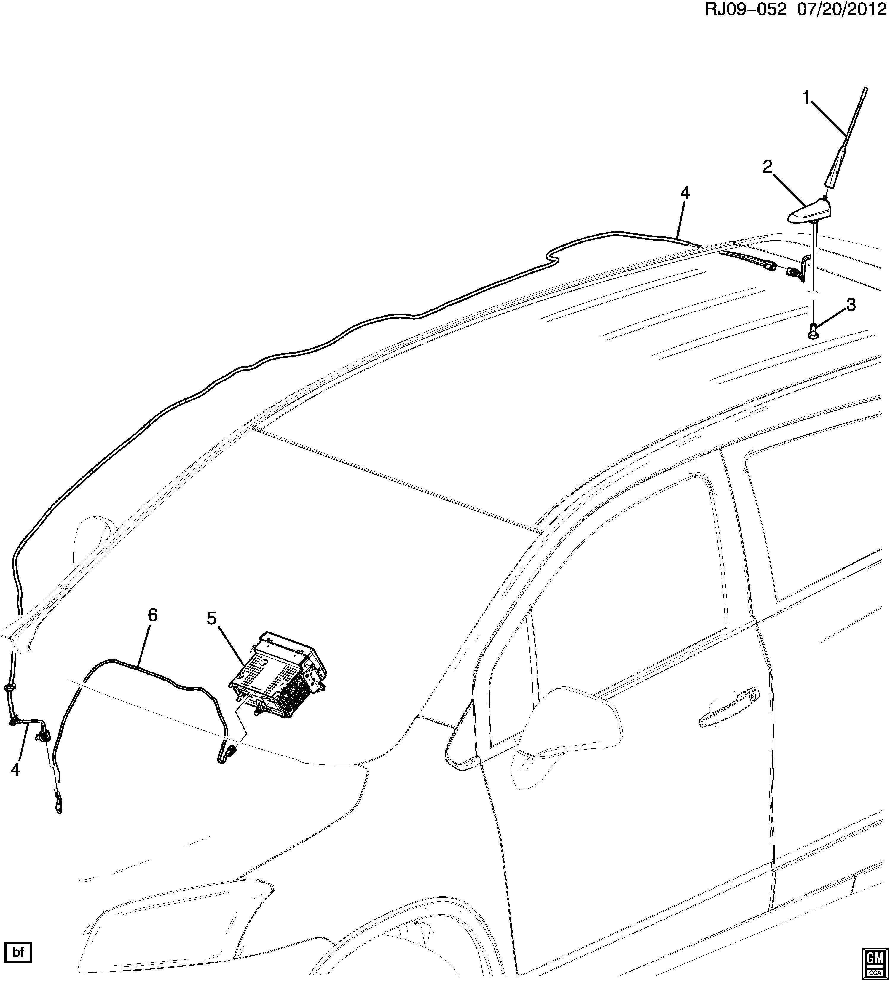 Buick Encore Base. Radio antenna. Base, rdo ant