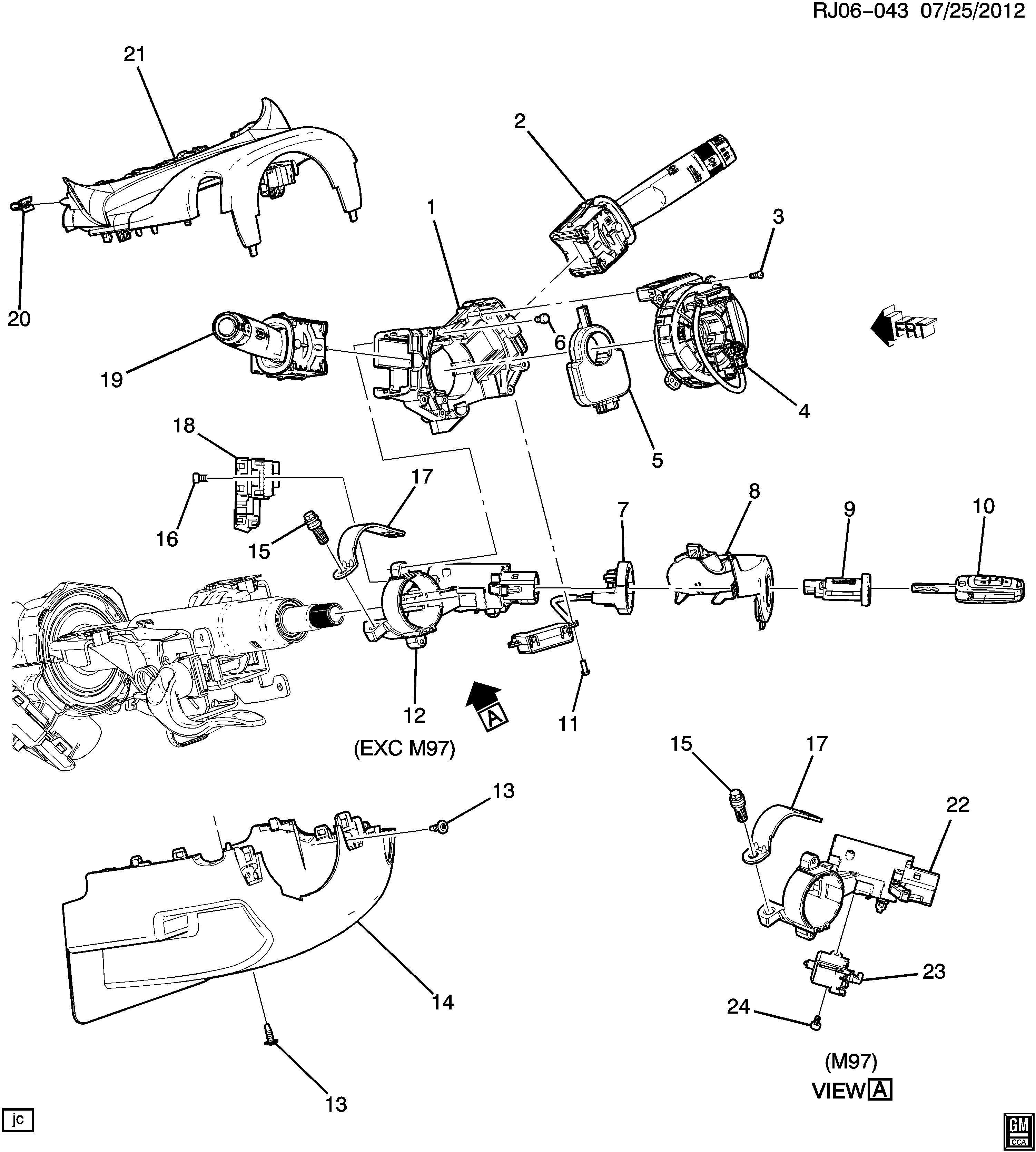 2014 Buick Encore Keyless Entry Transmitter. 2013-16