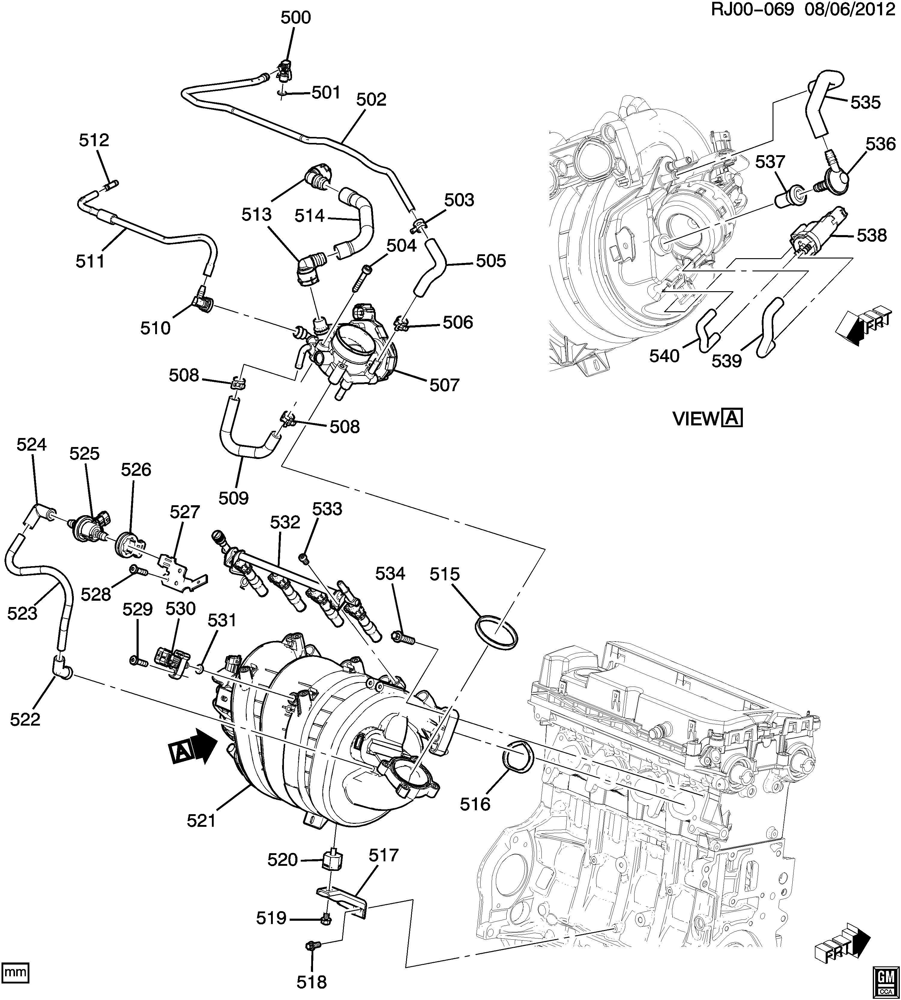 Chevrolet Trax Engine Asm 1 8l L4 Part 5 Intake Manifold