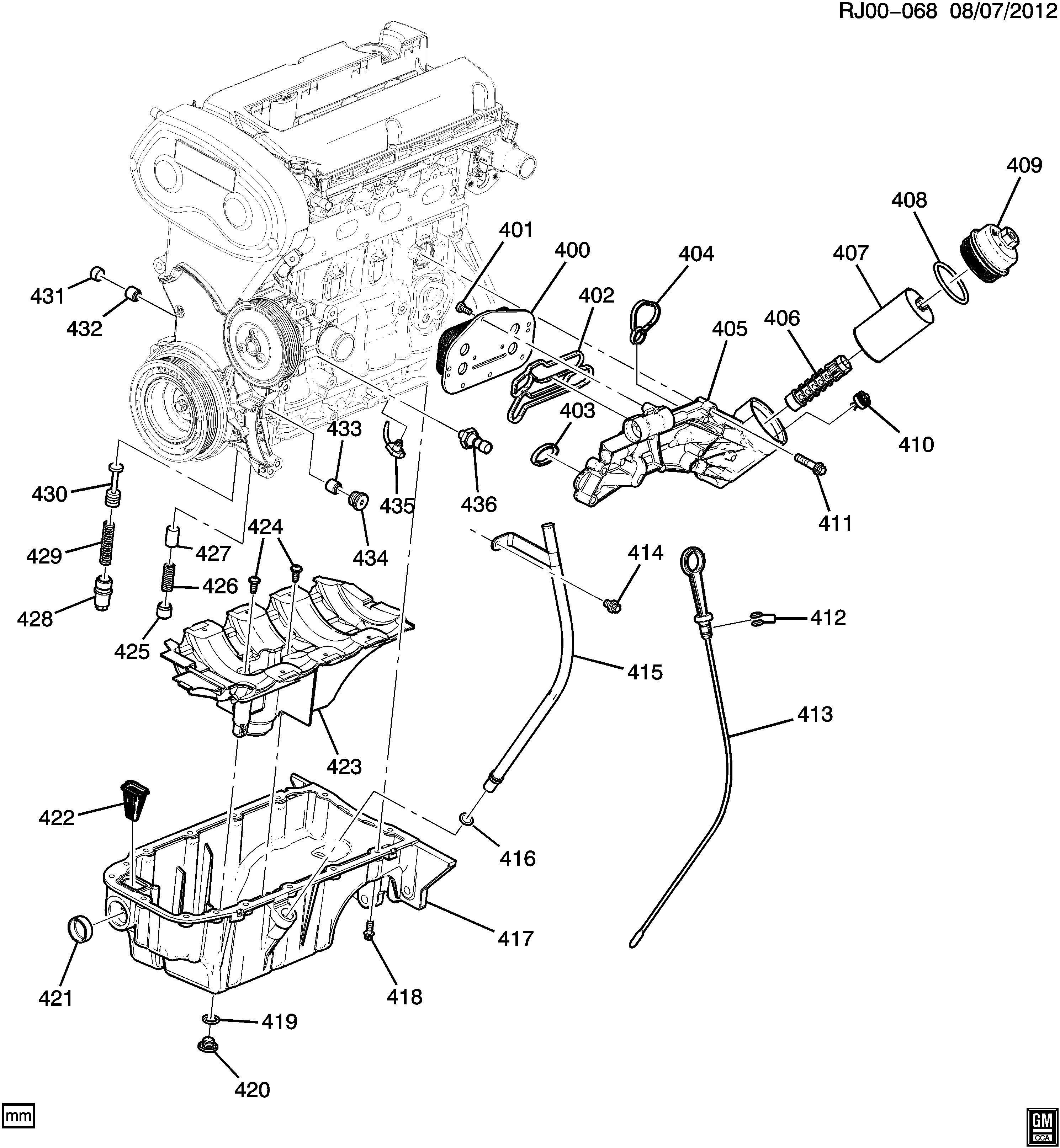Chevrolet Cruze LTZ ECO Bolt, Engine Oil CLEAR