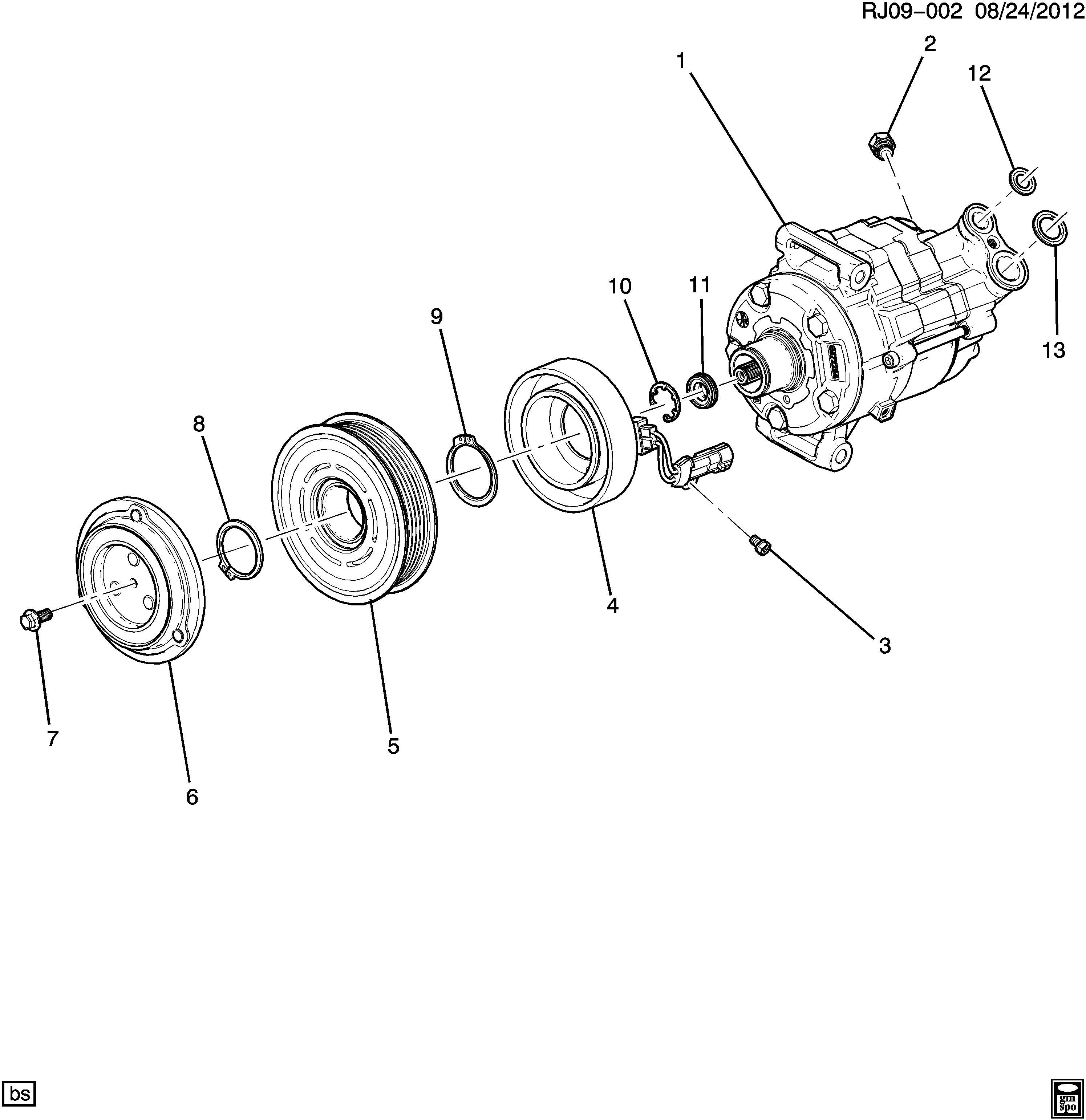 Chevrolet Sonic Clutch Kit Air Conditioning A C
