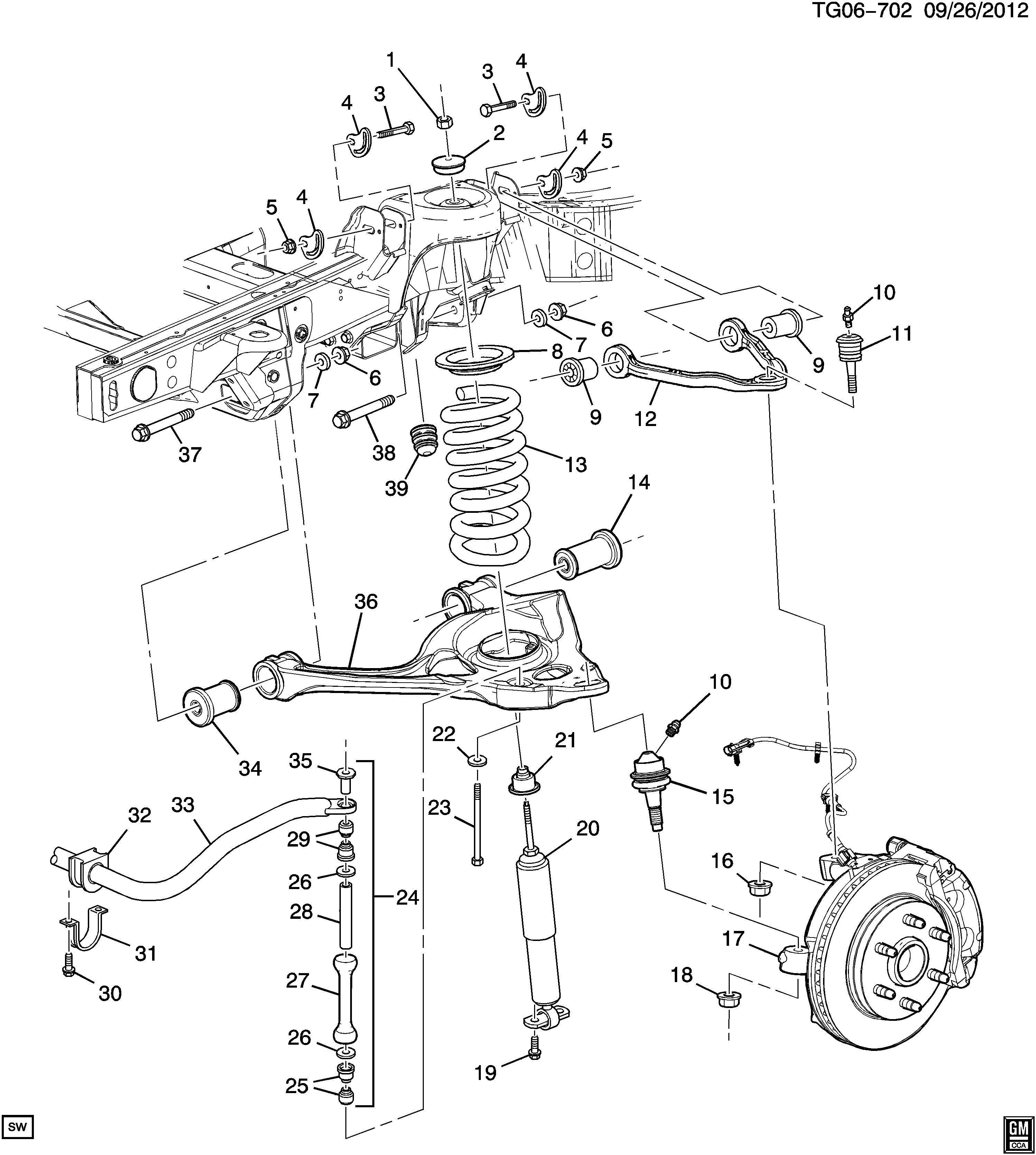 Chevrolet Express Stud Kit Steering Knuckle Lower Control