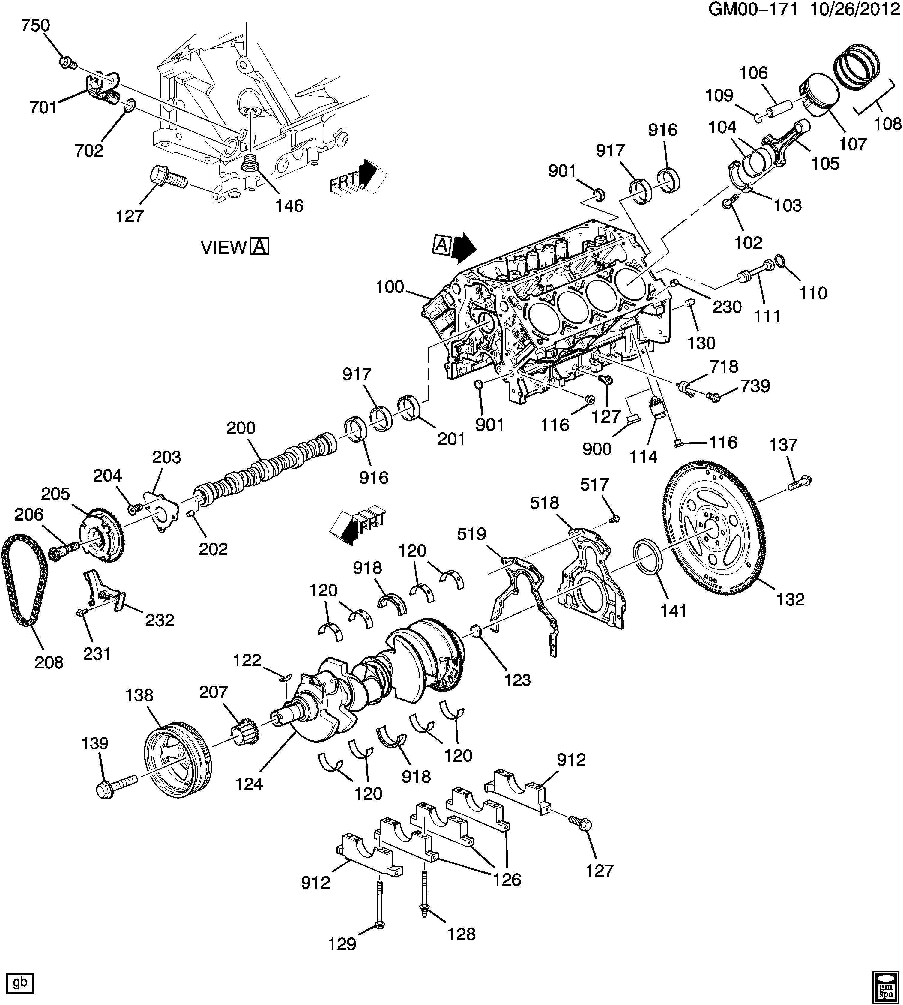 Hummer H3 Engine Rear Main Bearing. SEAL. SEAL KIT
