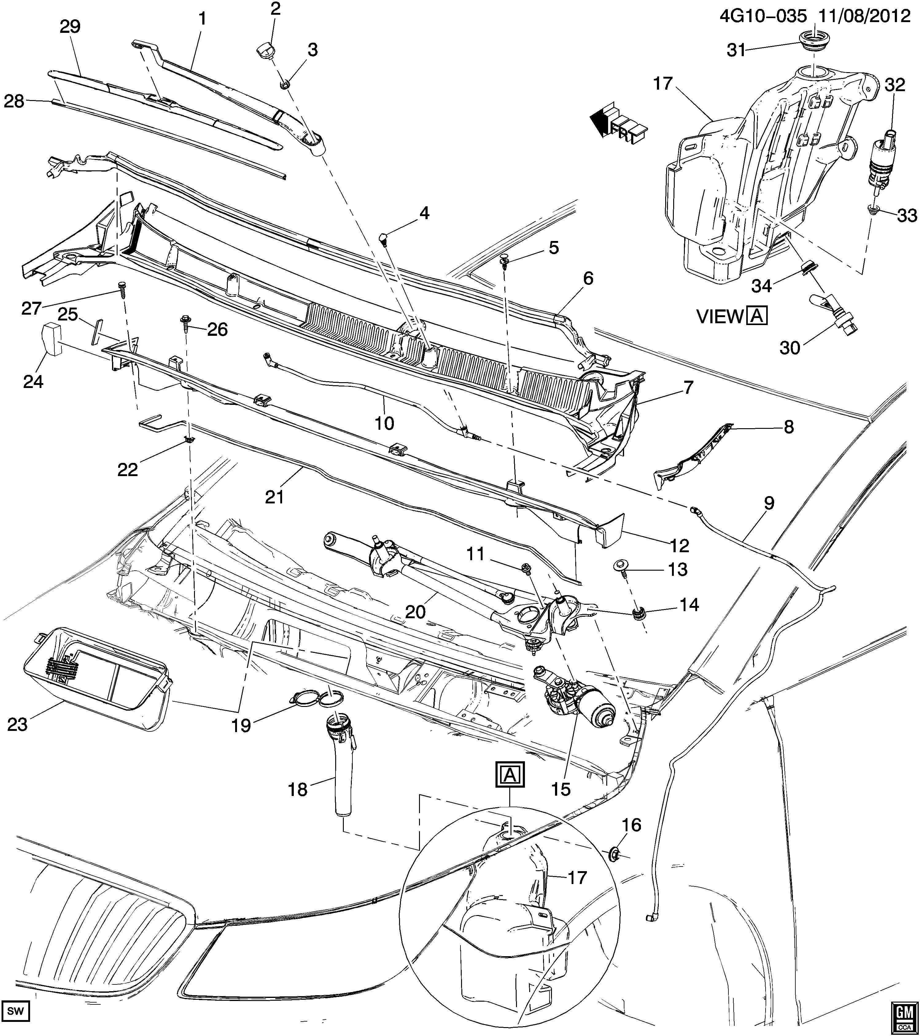 2013 Buick LaCrosse CXS TOURING 4DR Extension. Cowl top