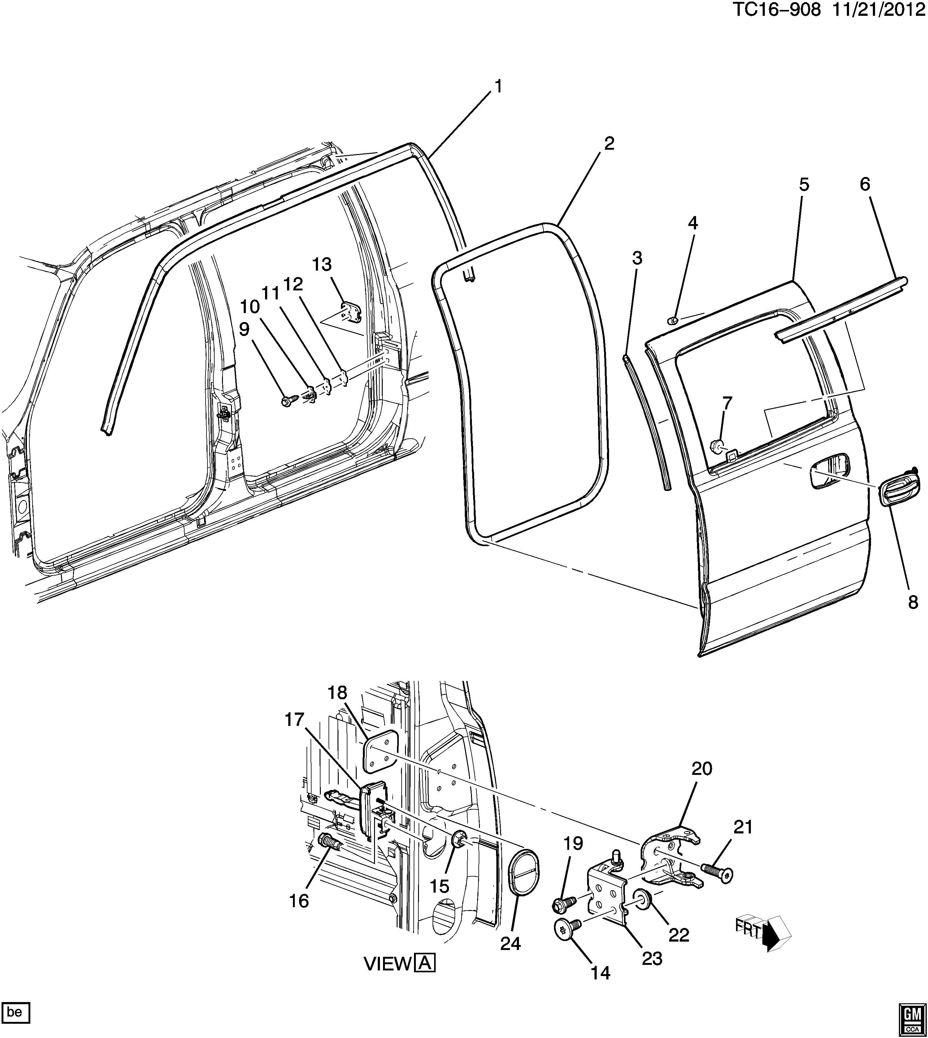 Chevrolet Silverado Weatherstrip Side Door Opening