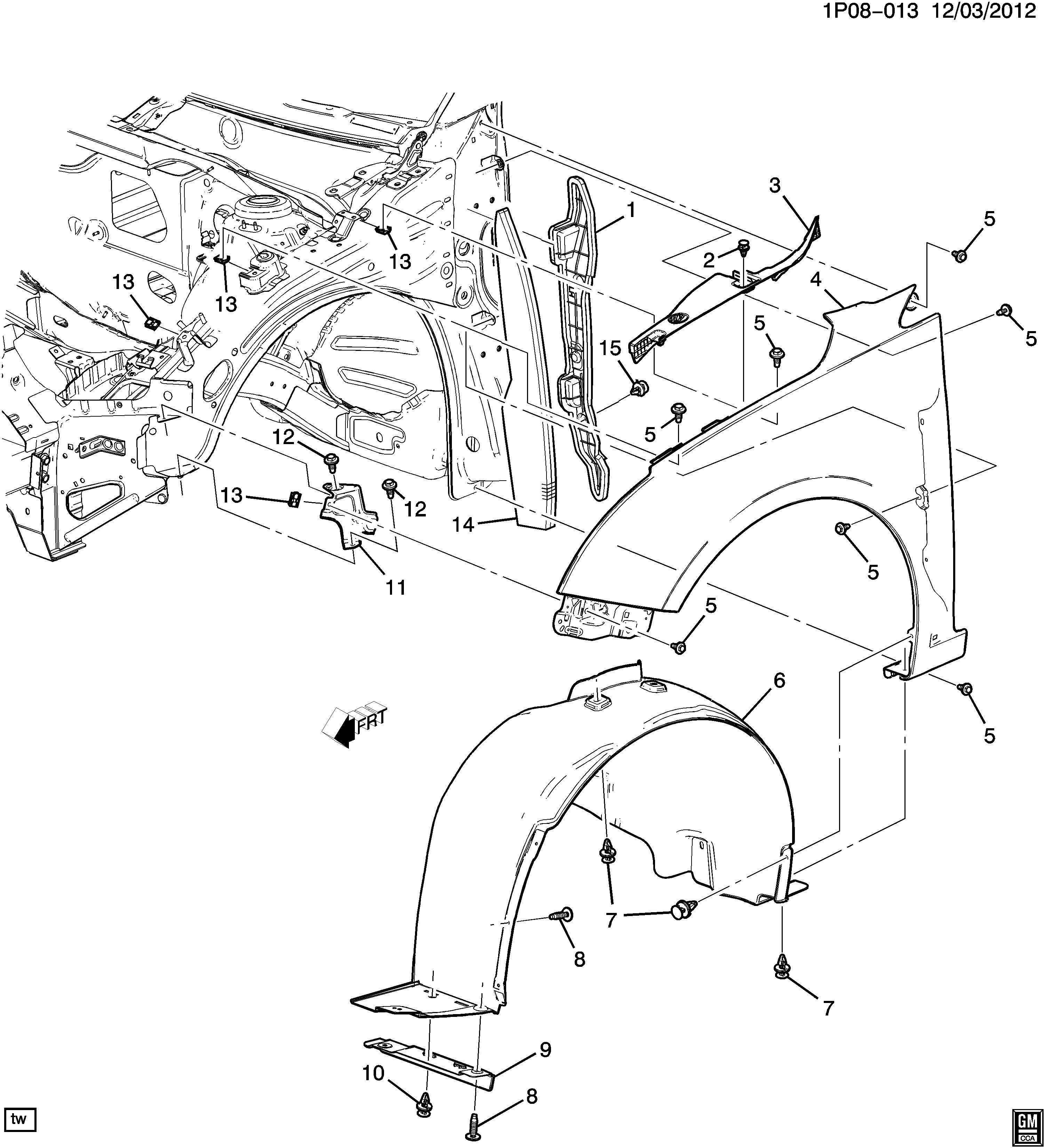 Chevrolet Cruze FENDER & WHEELHOUSE/FRONT END