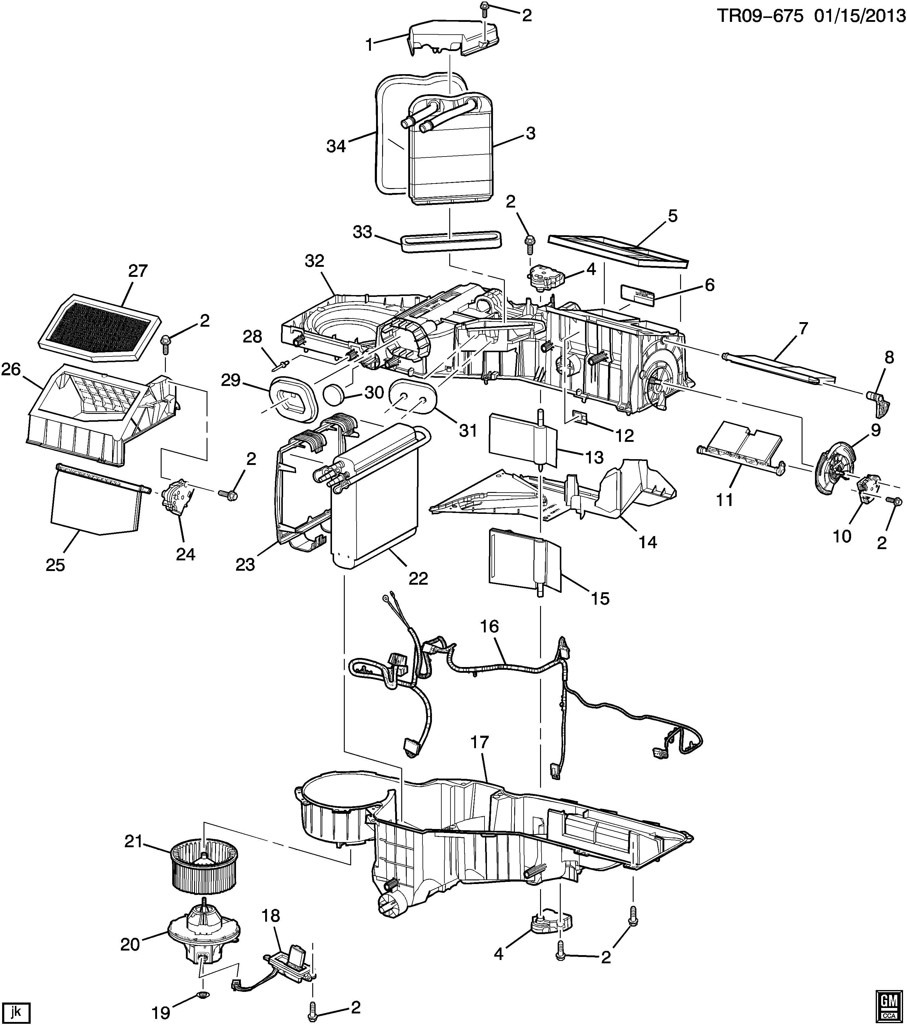 2000 Chevrolet Silverado Base Actuator. Air conditioning