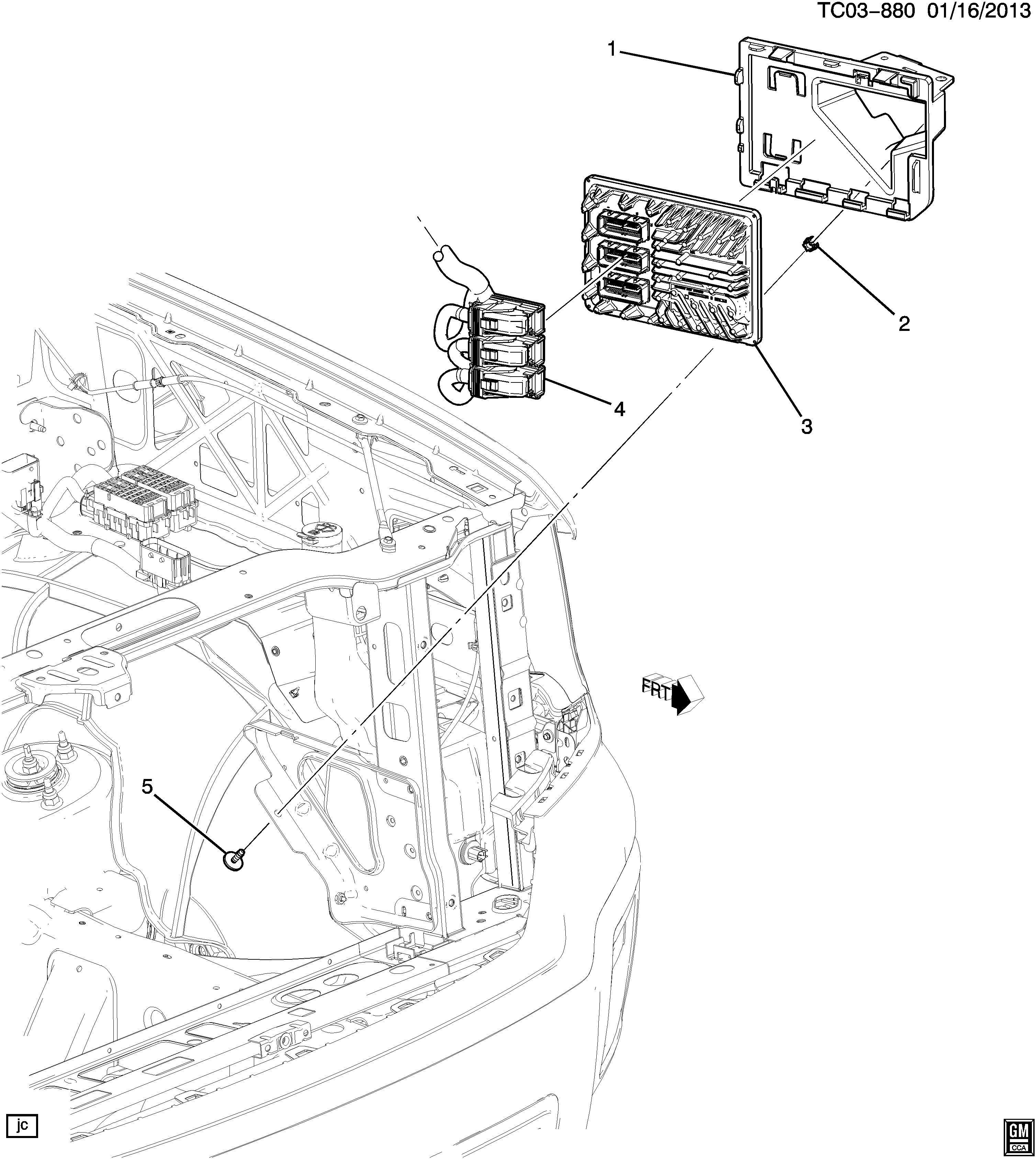 Chevrolet Silverado Module. Emission control system