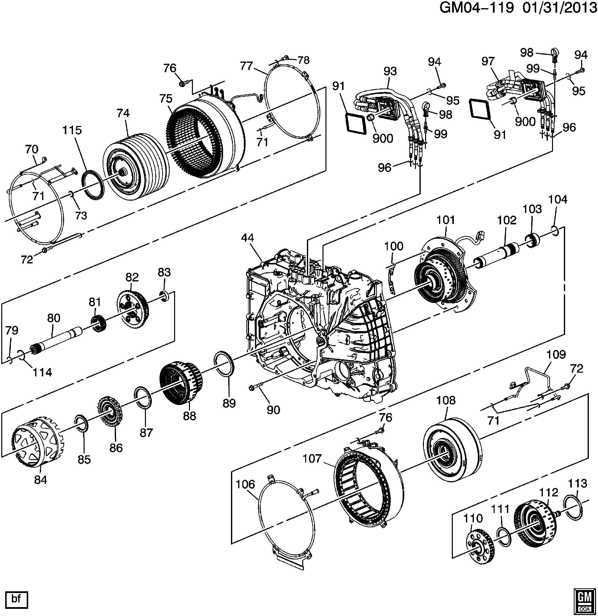 Chevrolet Volt Bearing Drive Motor Bearing Drv Mot