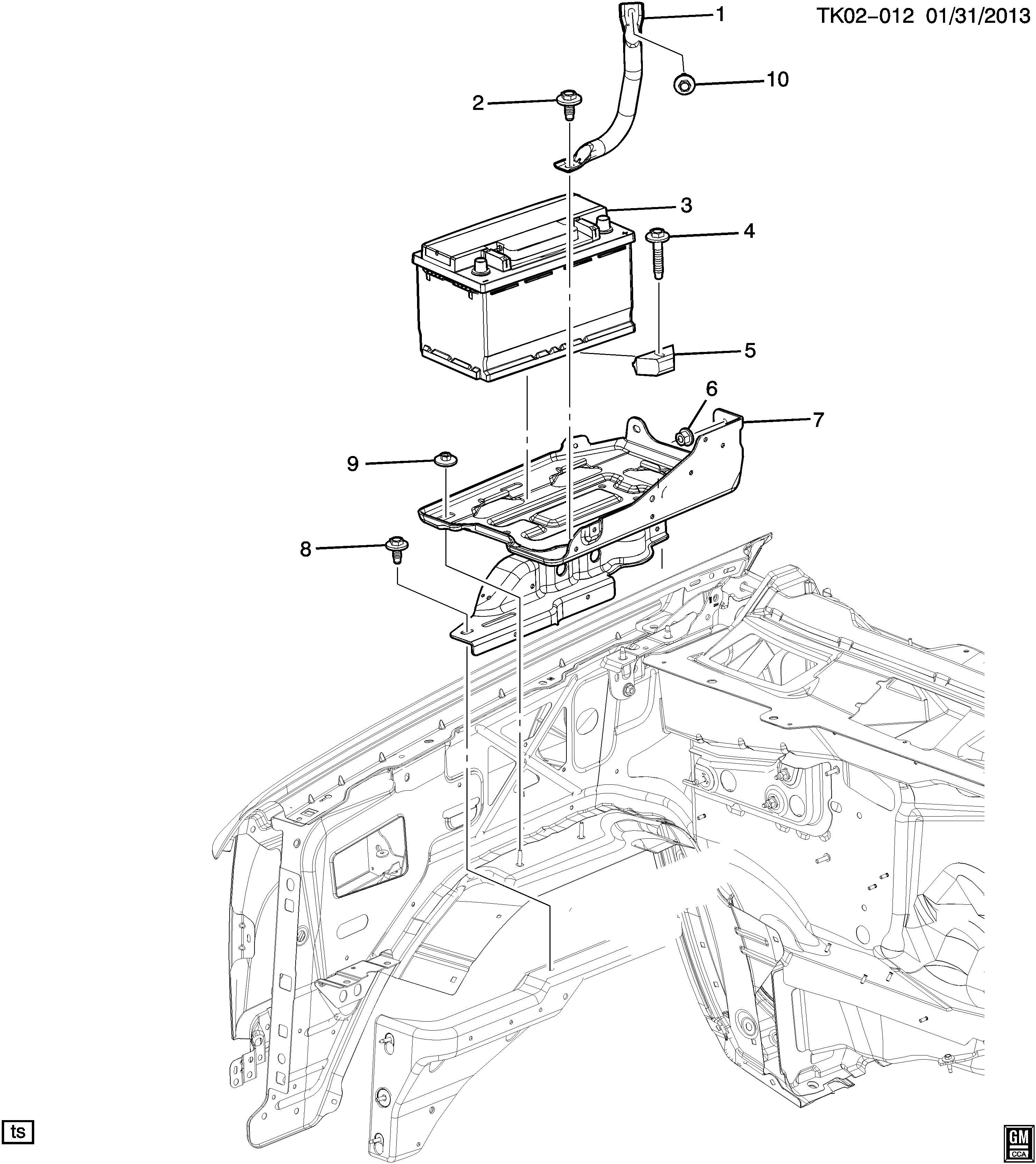 Chevrolet Silverado Battery Batterysensor Batterycca